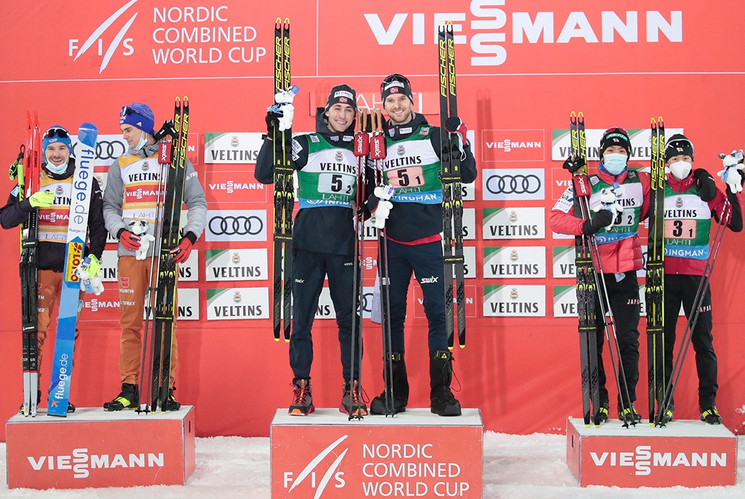 Norway's Graabak and Riiber overcome deficit to win men's team sprint in Lahti