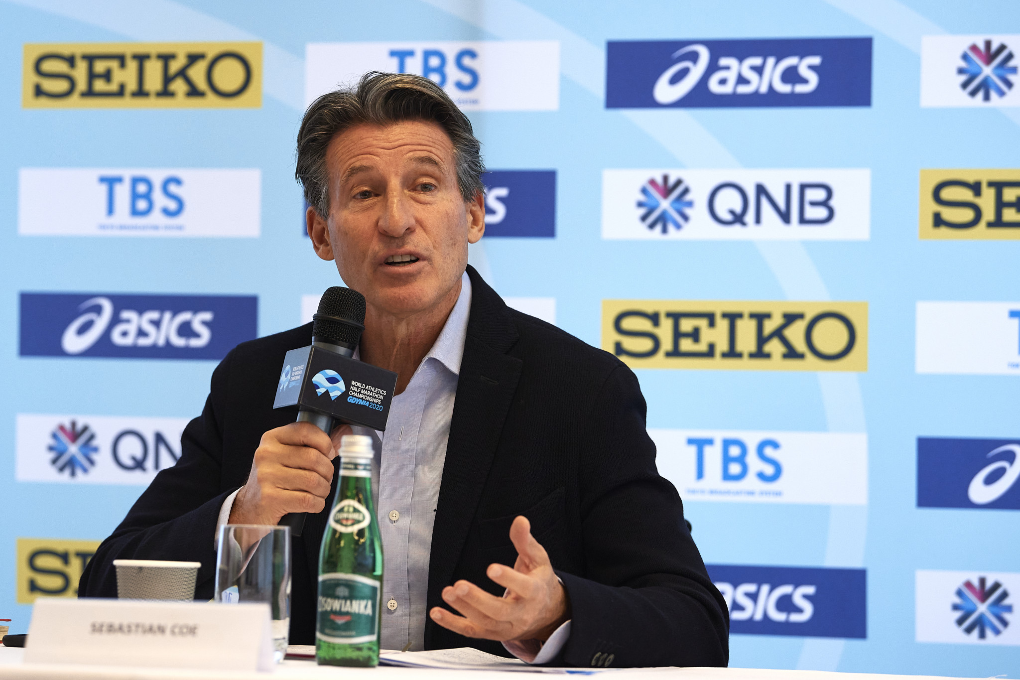 World Athletics President Sebastian Coe said he was concerned about rumours impacting Tokyo 2020 athletes ©Getty Images
