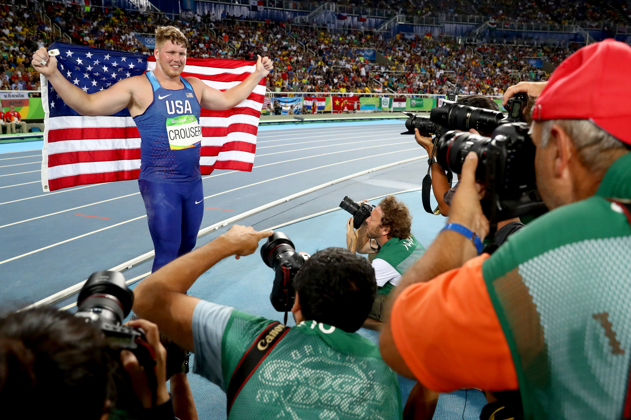 Ryan Crouser is the reigning Olympic champion men's shot put ©Getty Images
