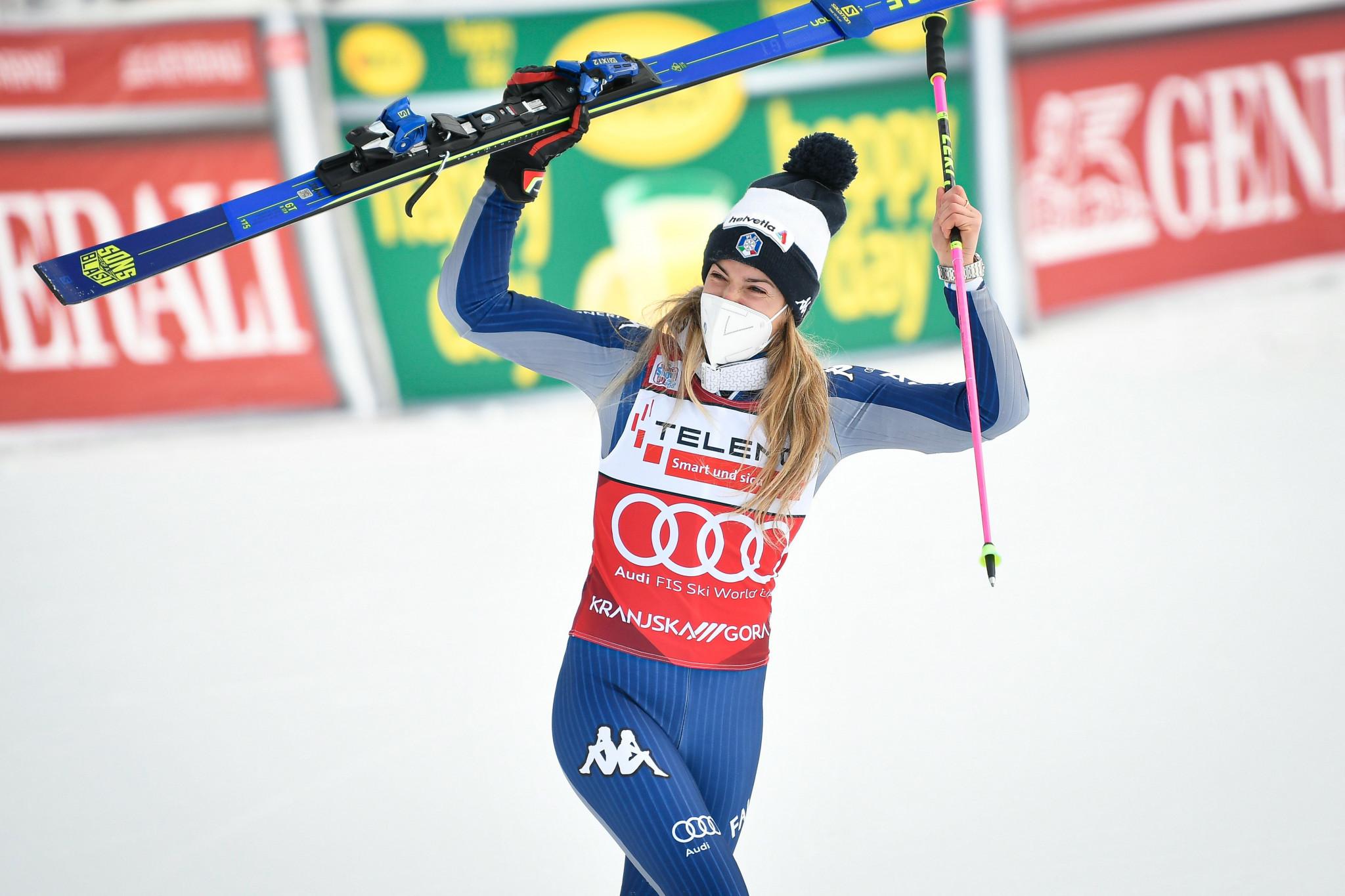 Bassino targeting giant slalom hat-trick at FIS Alpine Ski World Cup