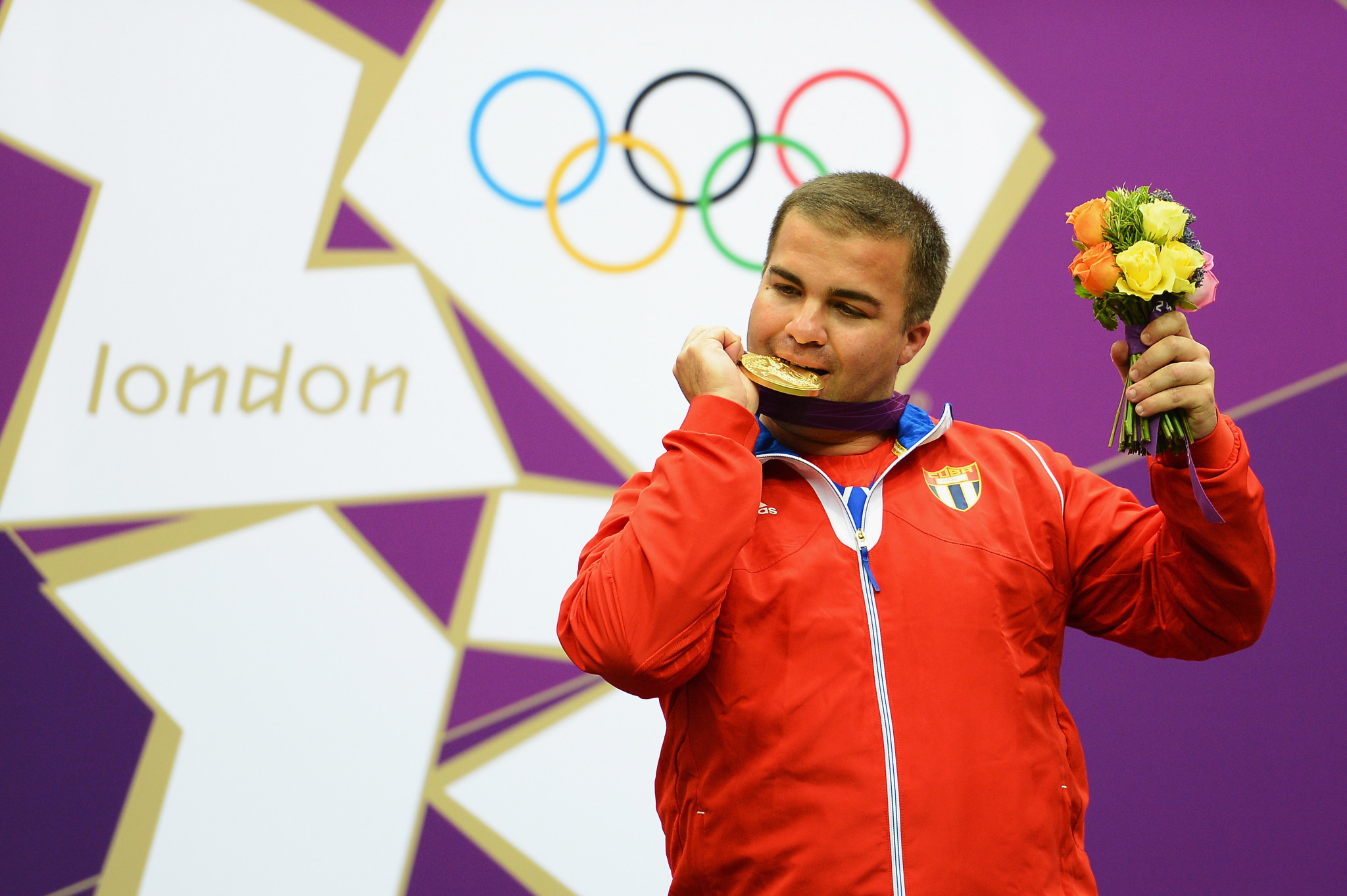 Cuba's Leuris Pupo won the gold medal in the men's 25 metre rapid fire pistol at London 2012 on his fourth Olympic appearance having previously never finished higher than seventh ©Getty Images