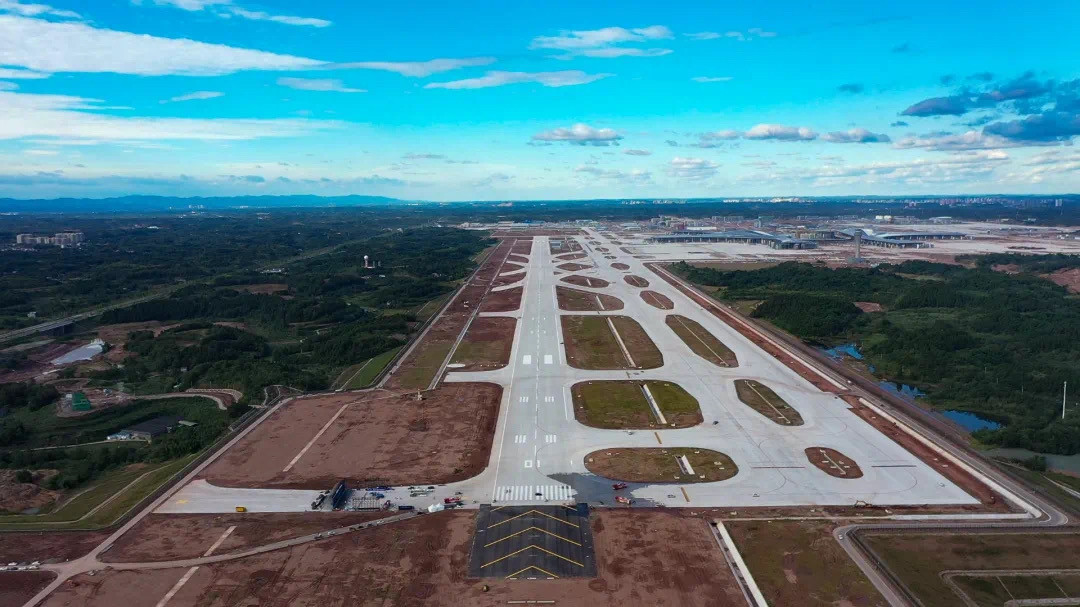 Chengdu Tianfu International Airport is set to open in the first half of 2021 ©China Eastern