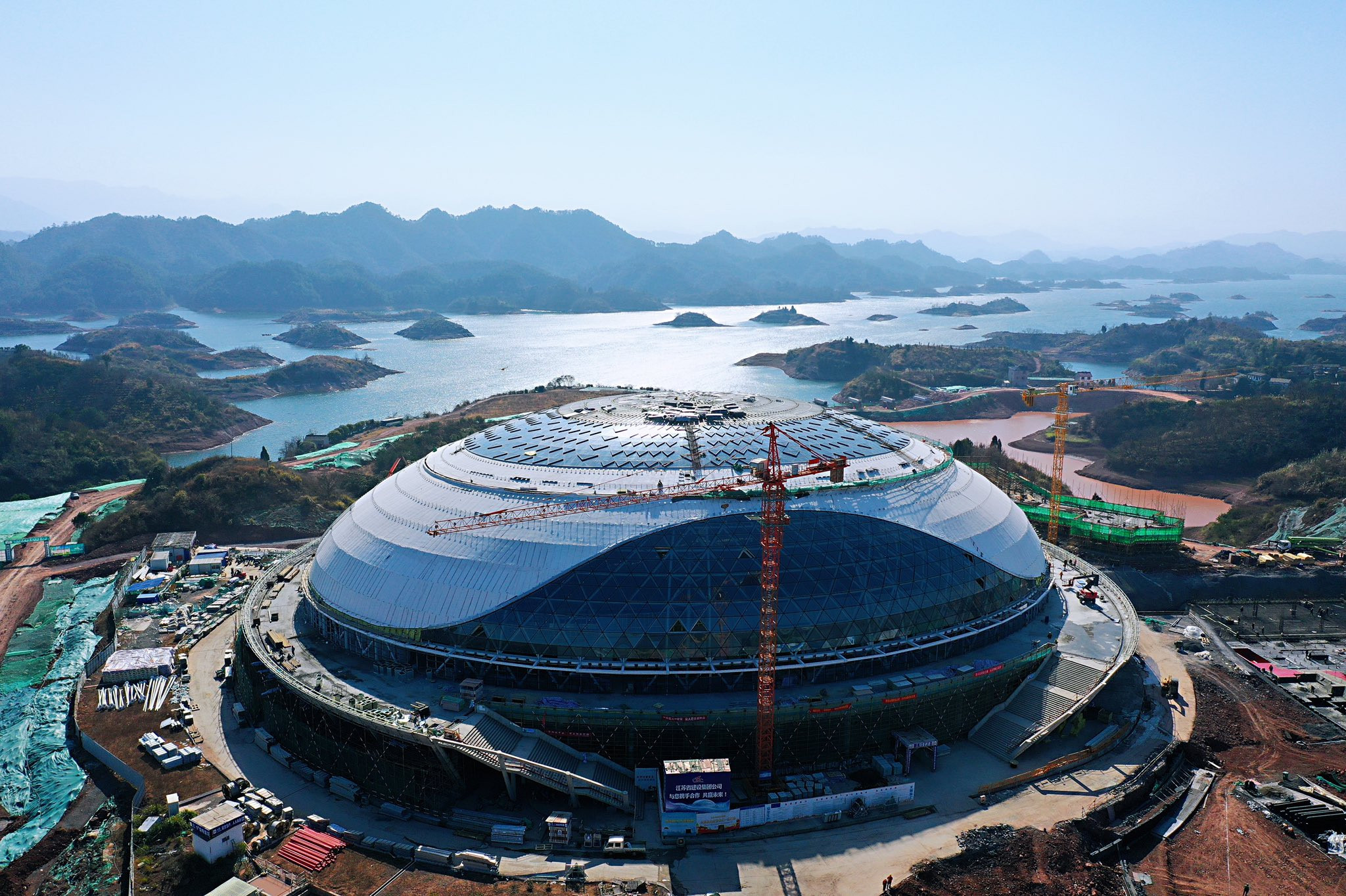 Velodrome for Hangzhou 2022 nears completion