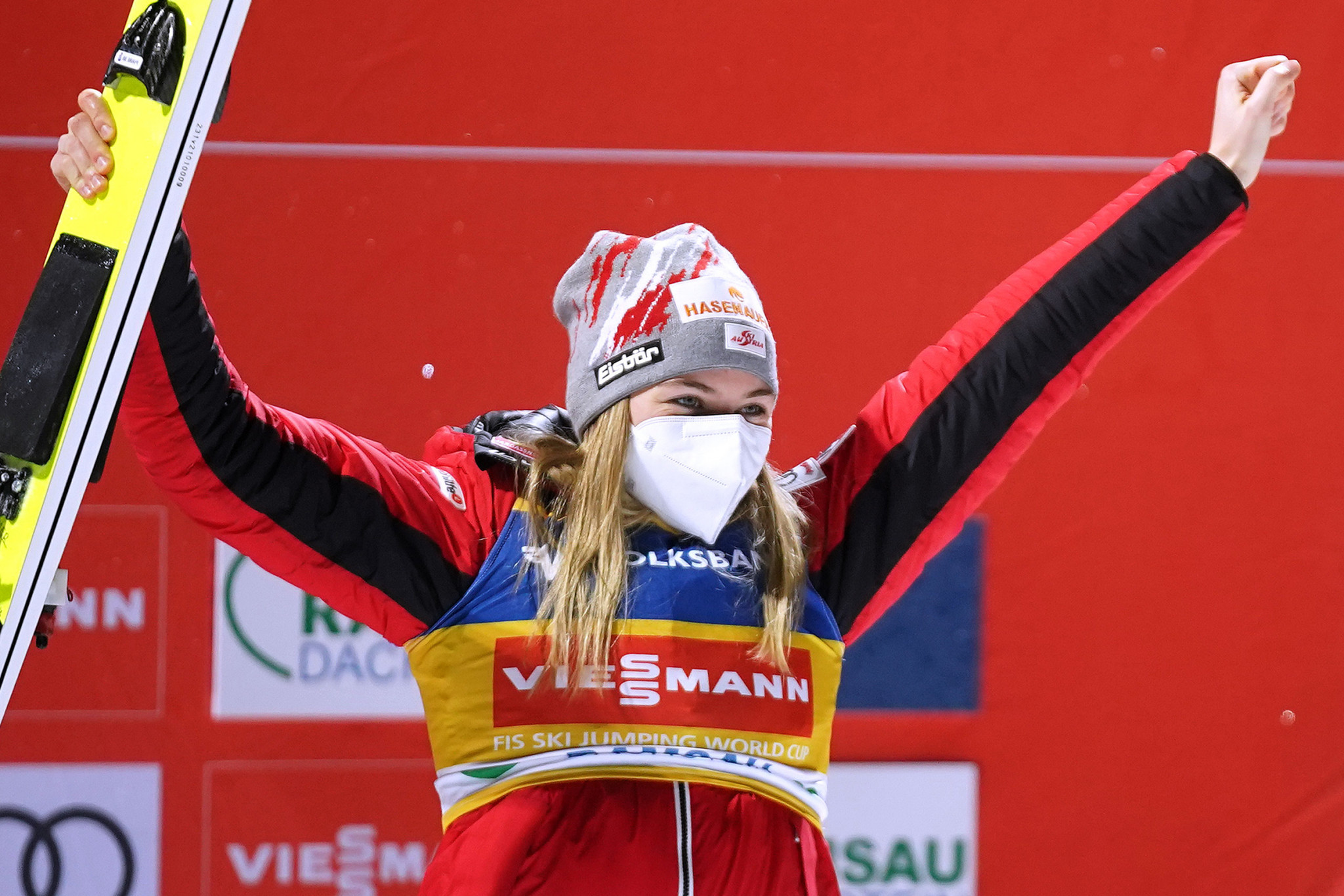 Kramer claims third straight win to keep Women's Ski Jumping World Cup hopes alive