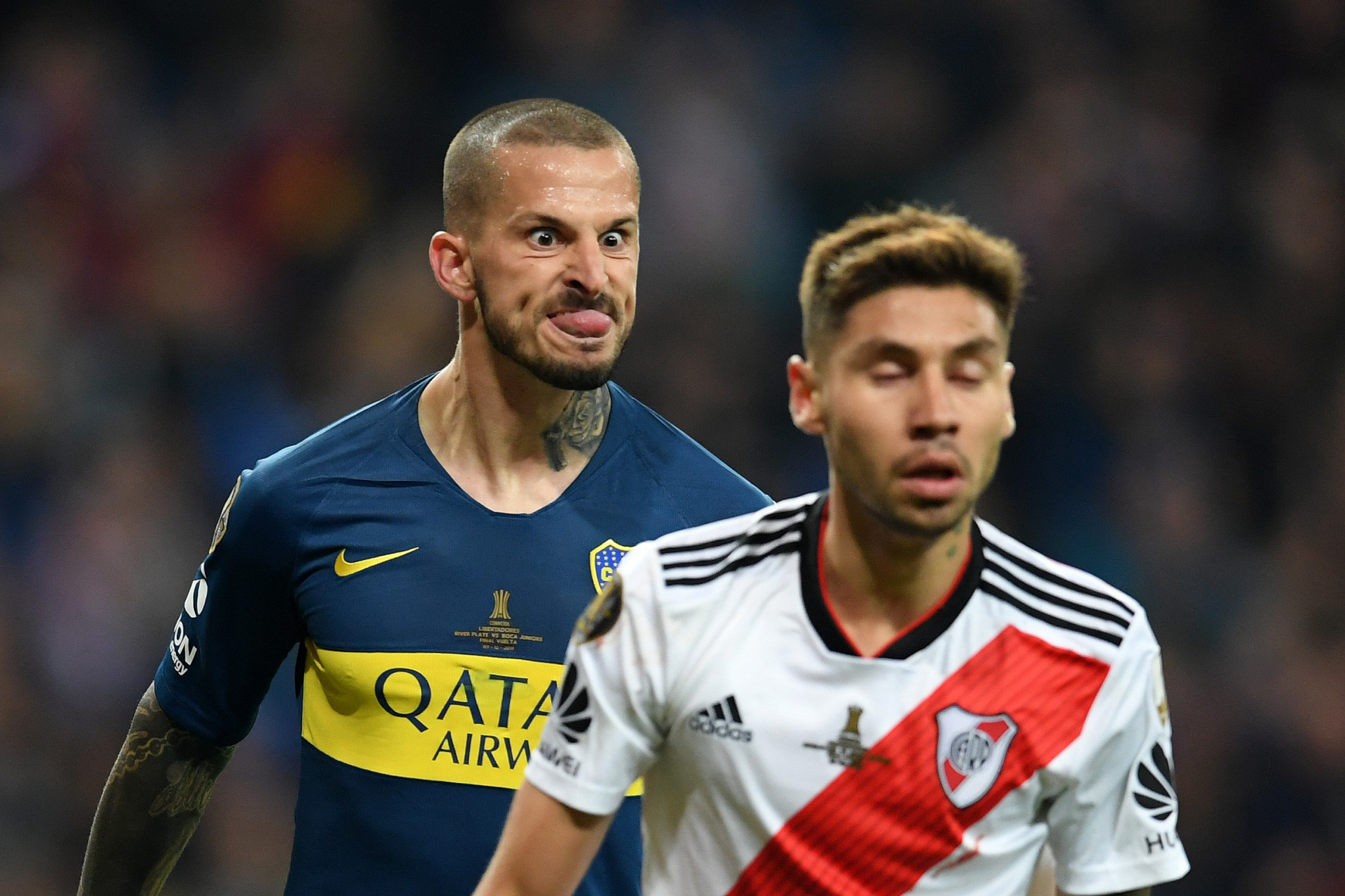 The 2018 Copa Libertadores final, between bitter rivals Boca Juniors and River Plate, was one for the ages ©Getty Images