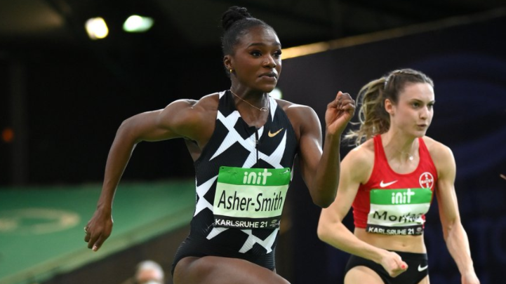 Asher-Smith equals British 60m record at Karlsruhe as Lavillenie flies high again
