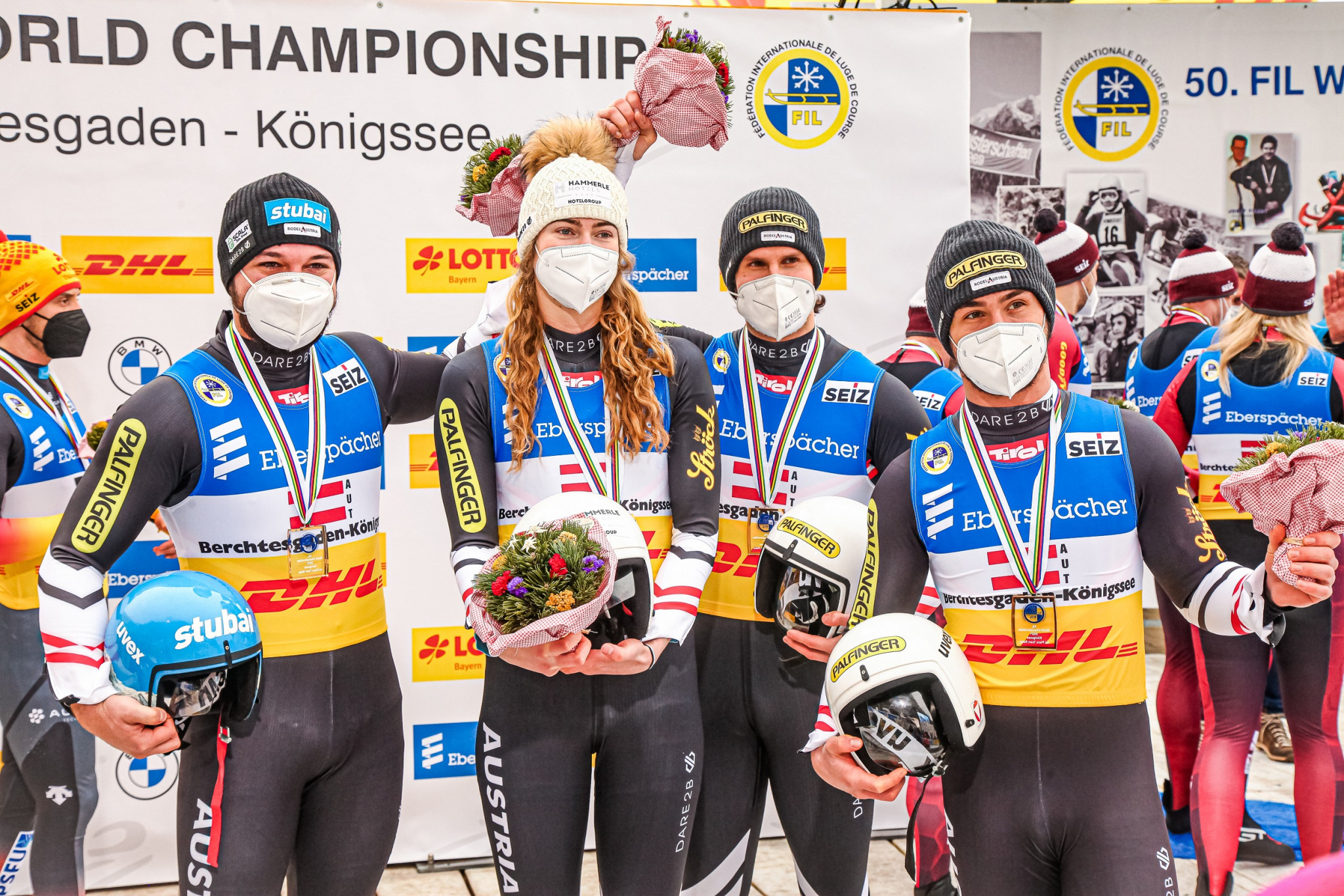 Austria beat hosts Germany to win team relay gold at Luge World Championships