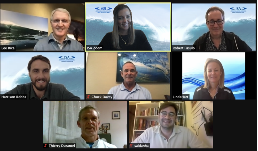 Members of the newly established International Surfing Associiation medical commission gathered for their first online meeting to discuss safety measures for the impending World Surfing Games and Tokyo 2020 Olympics ©ISA
