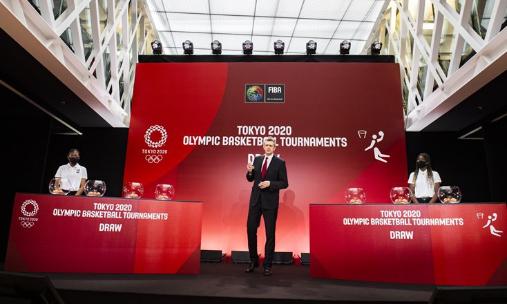 The draw for the 2020 Olympic basketball tournament took place at the House of Basketball in Mies today ©FIBA