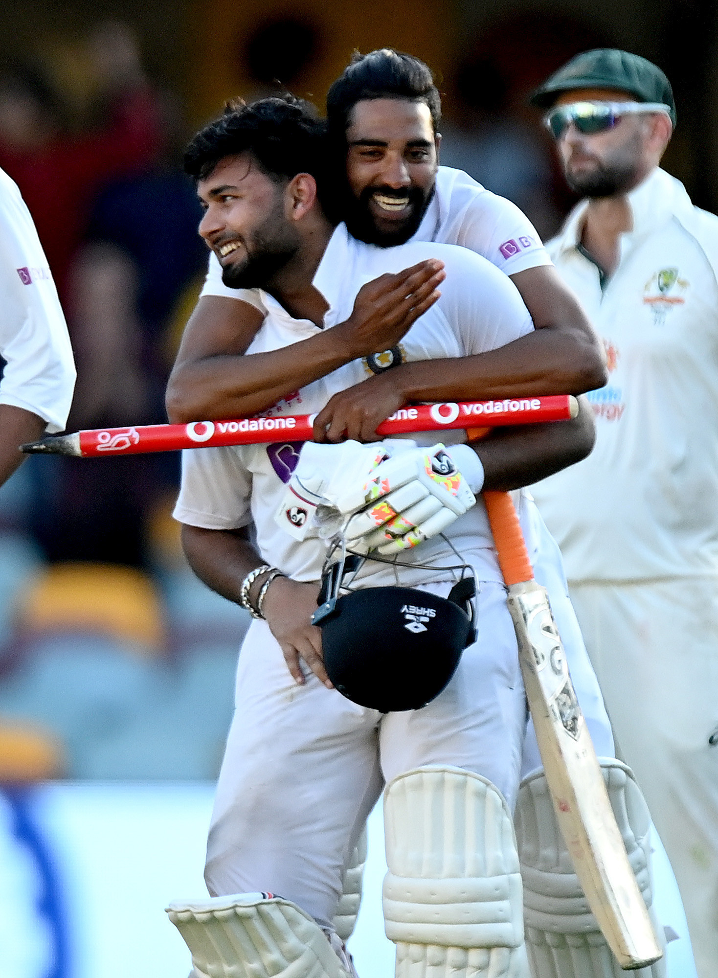 India's Rishabh Pant is congratulated after helping India to a series win over Australia ©Getty Images