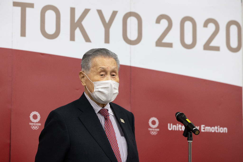 Tokyo 2020 President Yoshirō Mori has become embroiled in a sexism row ©Getty Images