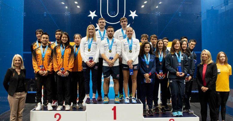 Britain, hosts of the last FISU World Championship Squash event in 2018, won the team title and will defend it in New Giza in 2022 ©FISU