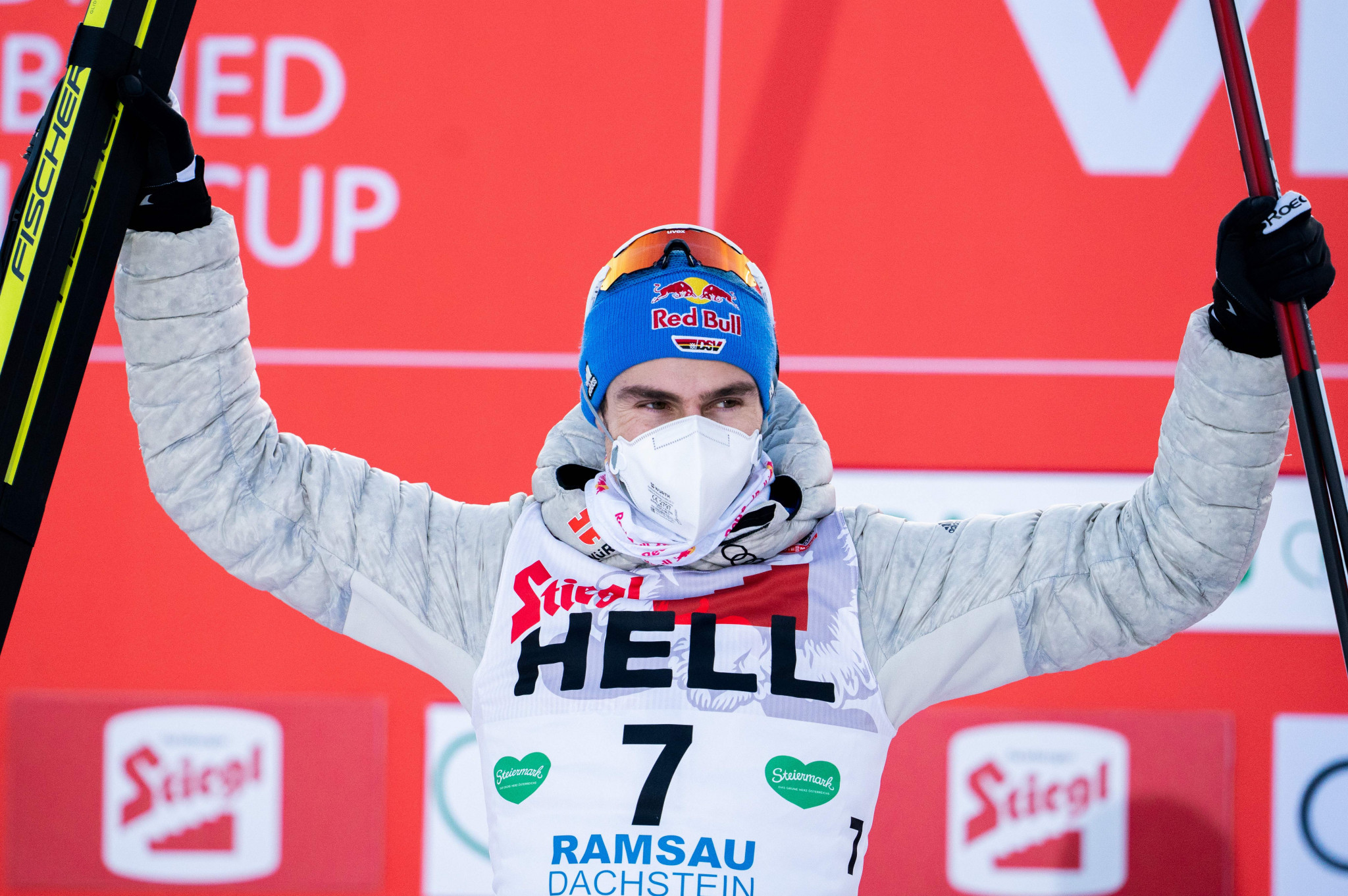 Geiger leads German clean sweep at FIS Nordic Combined World Cup
