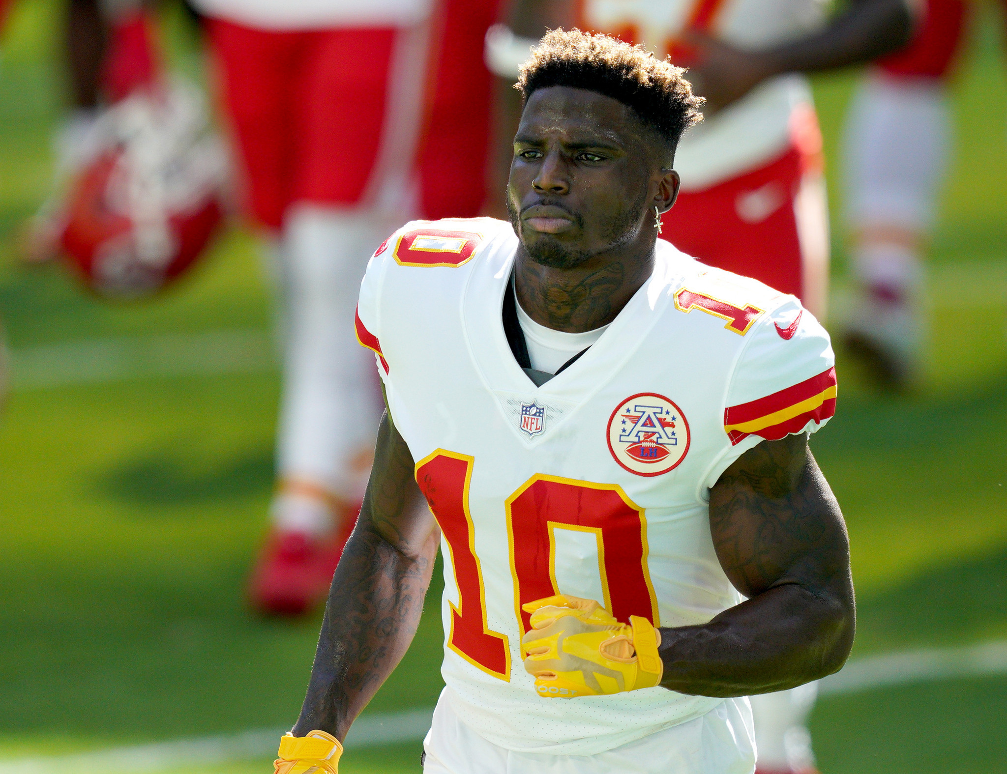 Tyreek Hill is still aiming to compete at the Tokyo 2020 Olympics ©Getty Images