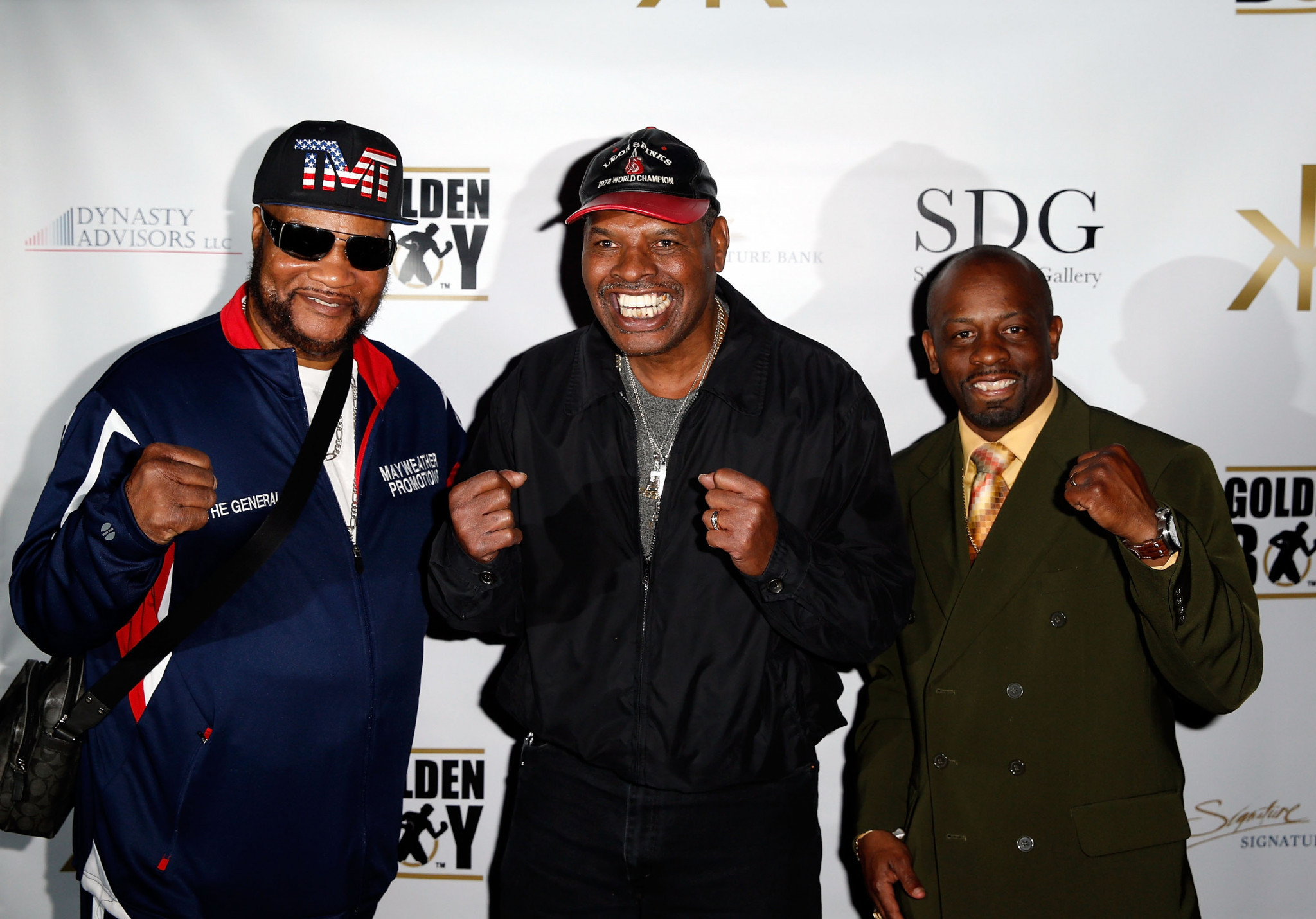 Leon Spinks, centre, was diagnosed with prostate cancer in 2019 ©Getty Images