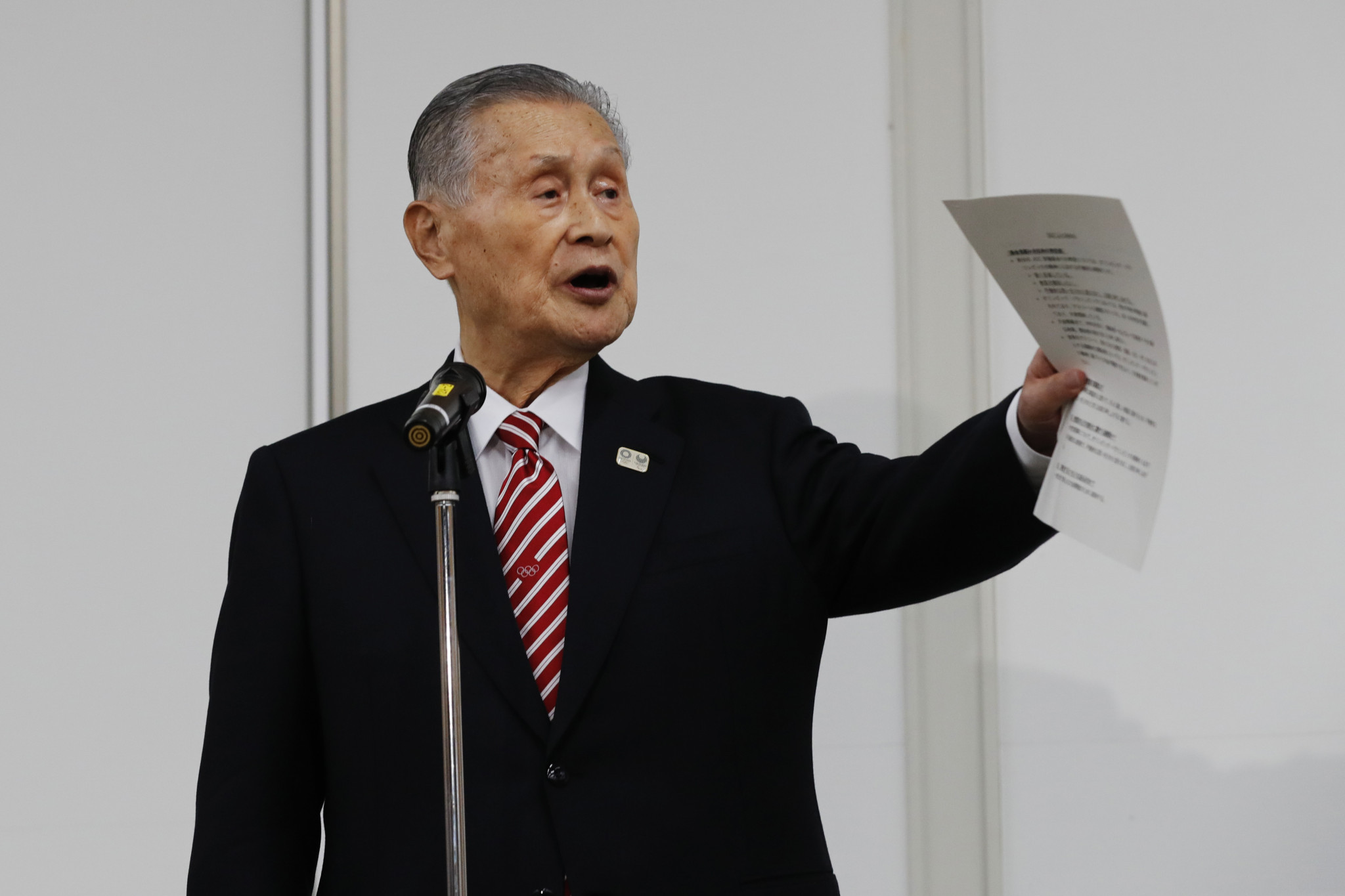 Tokyo 2020 President Yoshirō Mori apologised for his comments during a media conference ©Getty Images