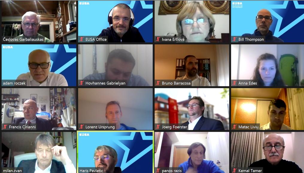 EUSA Executive Committee discuss European Universities Games at virtual meeting