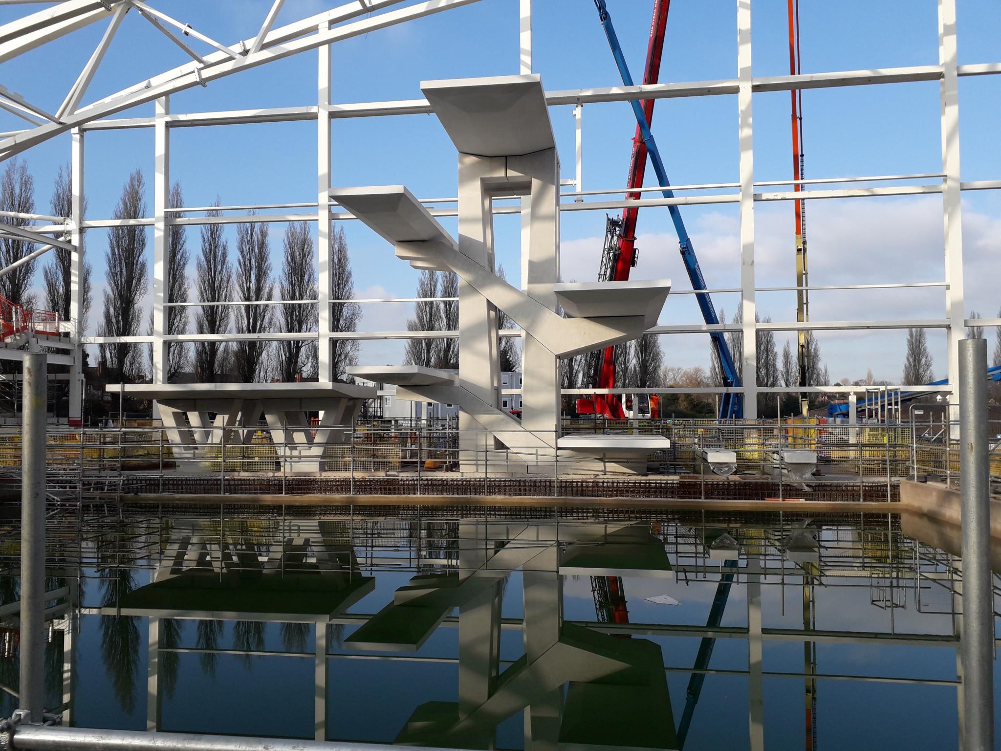 Diving tower completed at Birmingham 2022 aquatics venue