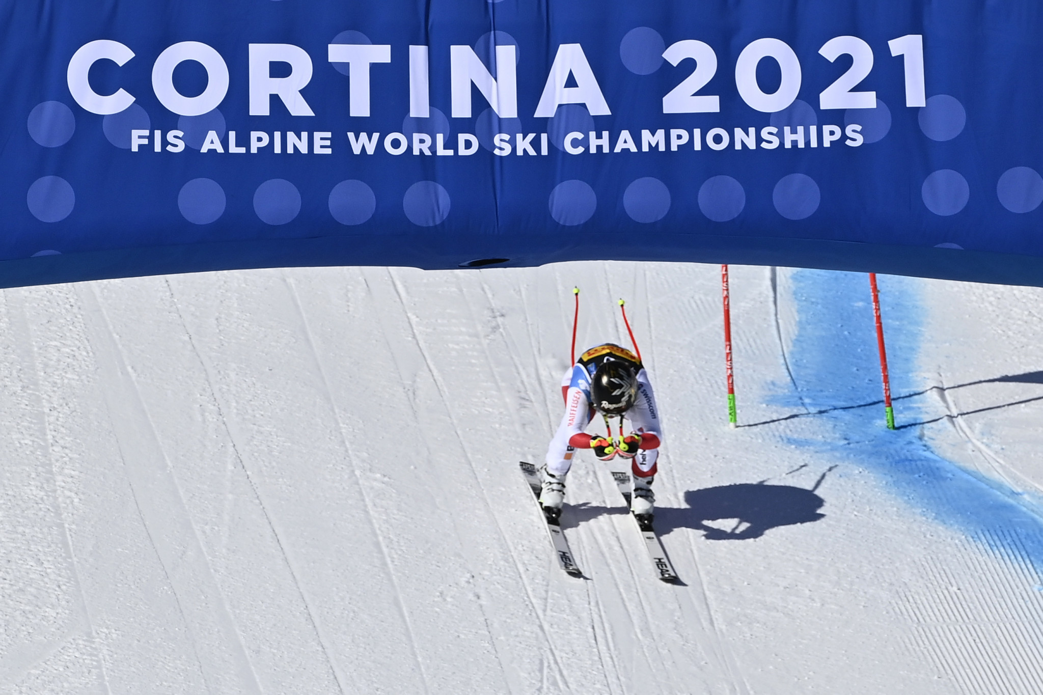 Lara Gut-Behrami triumphed in the women's super-G event as the FIS Alpine World Ski Championships finally got underway today in Cortina d'Ampezzo ©Getty Images