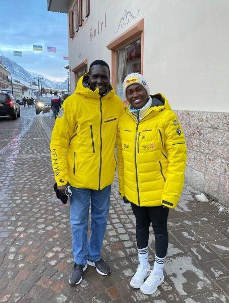 NOCK President Tergat pays tribute to Kenya's only athlete at FIS Alpine World Ski Championships