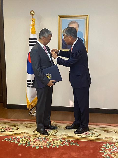 World Taekwondo Council member honoured by South Korean Government