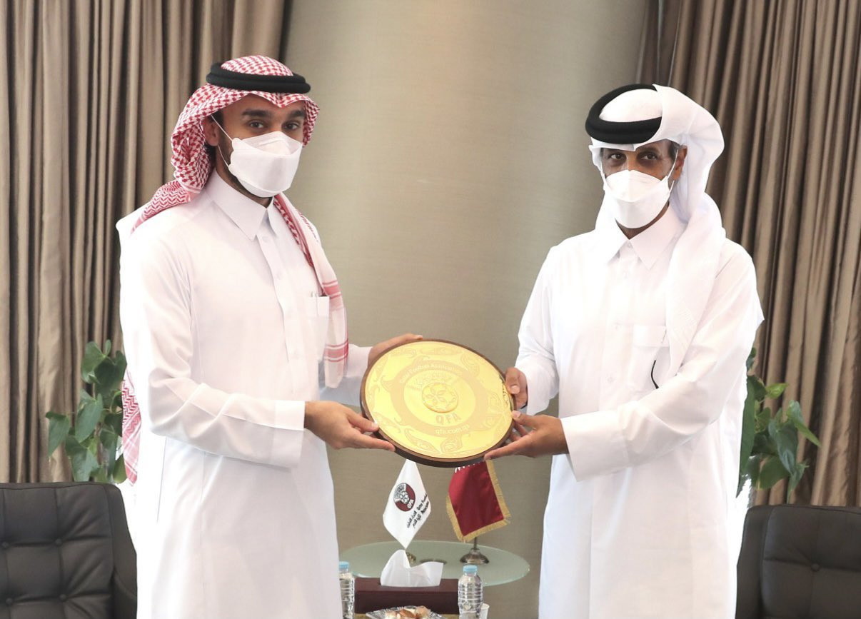 Saudi Arabian and Qatari NOC leaders discuss future cooperation during meeting