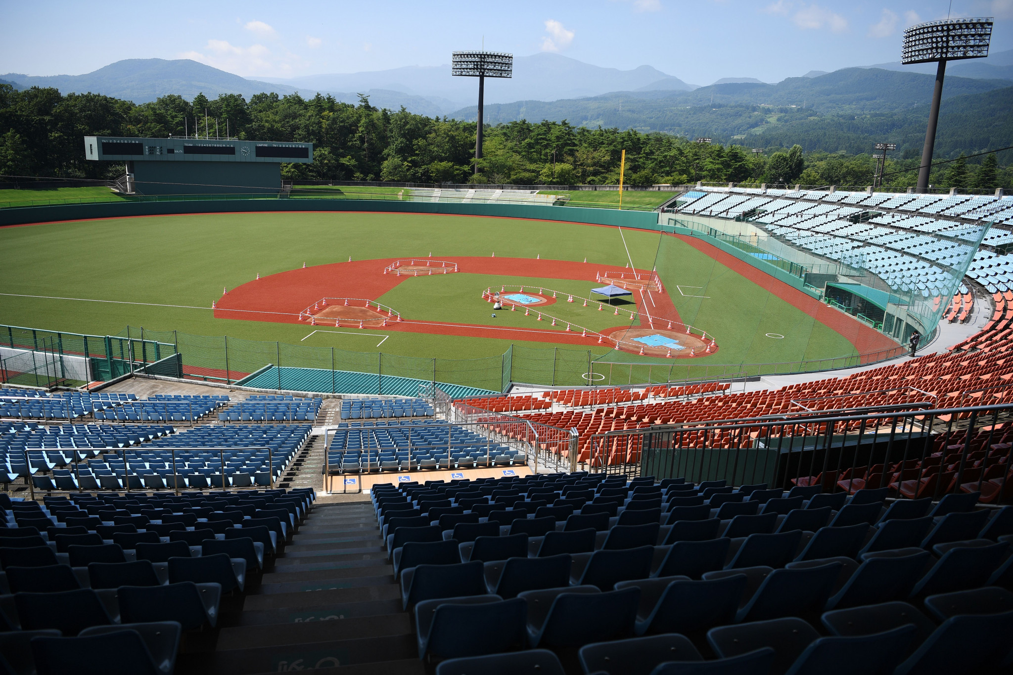 Azuma Baseball Stadium is due to host baseball and softball during the Olympics ©Getty Images