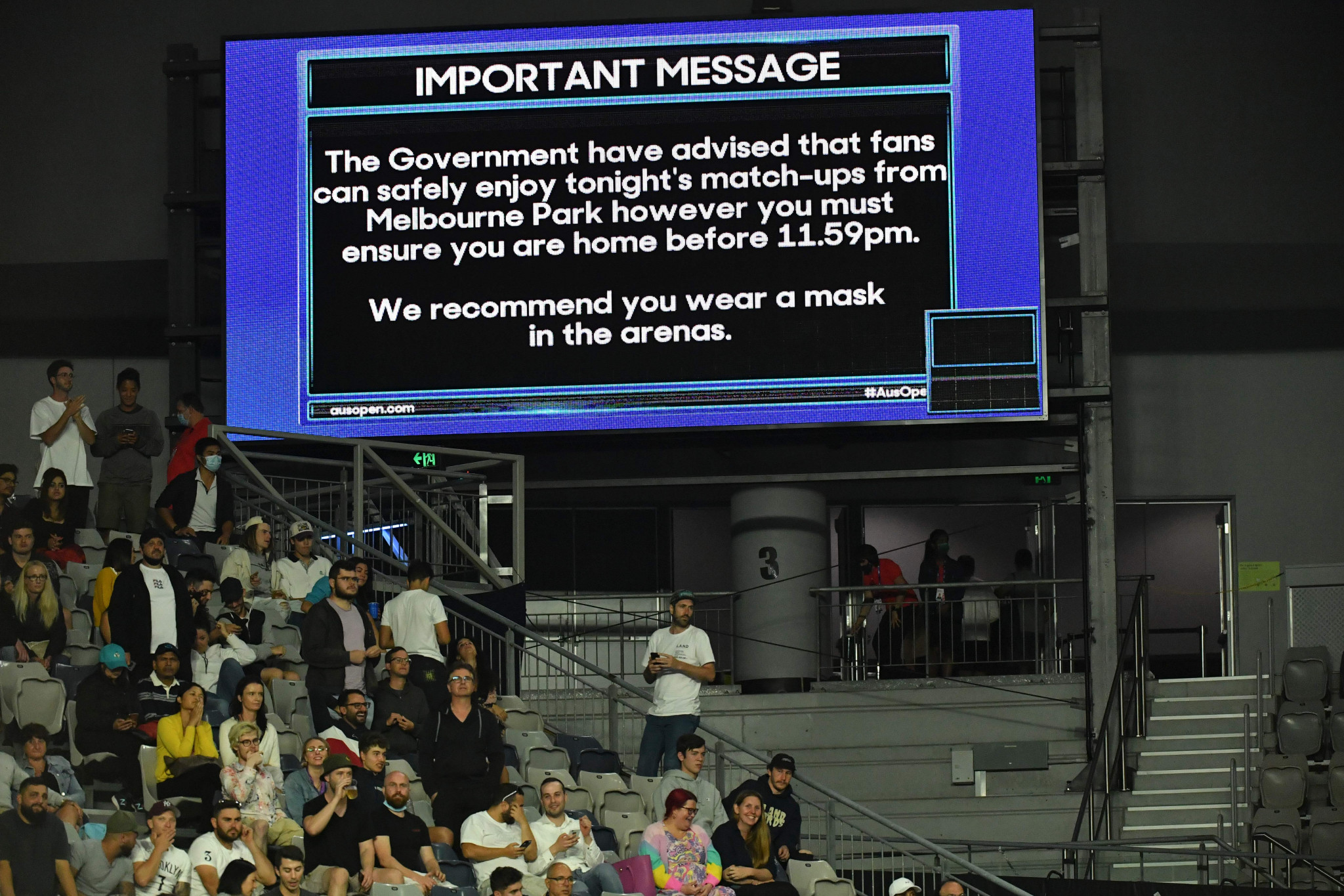 Spectators are no longer able to attend the Australian Open after a snap lockdown was announced in Victoria ©Getty Images