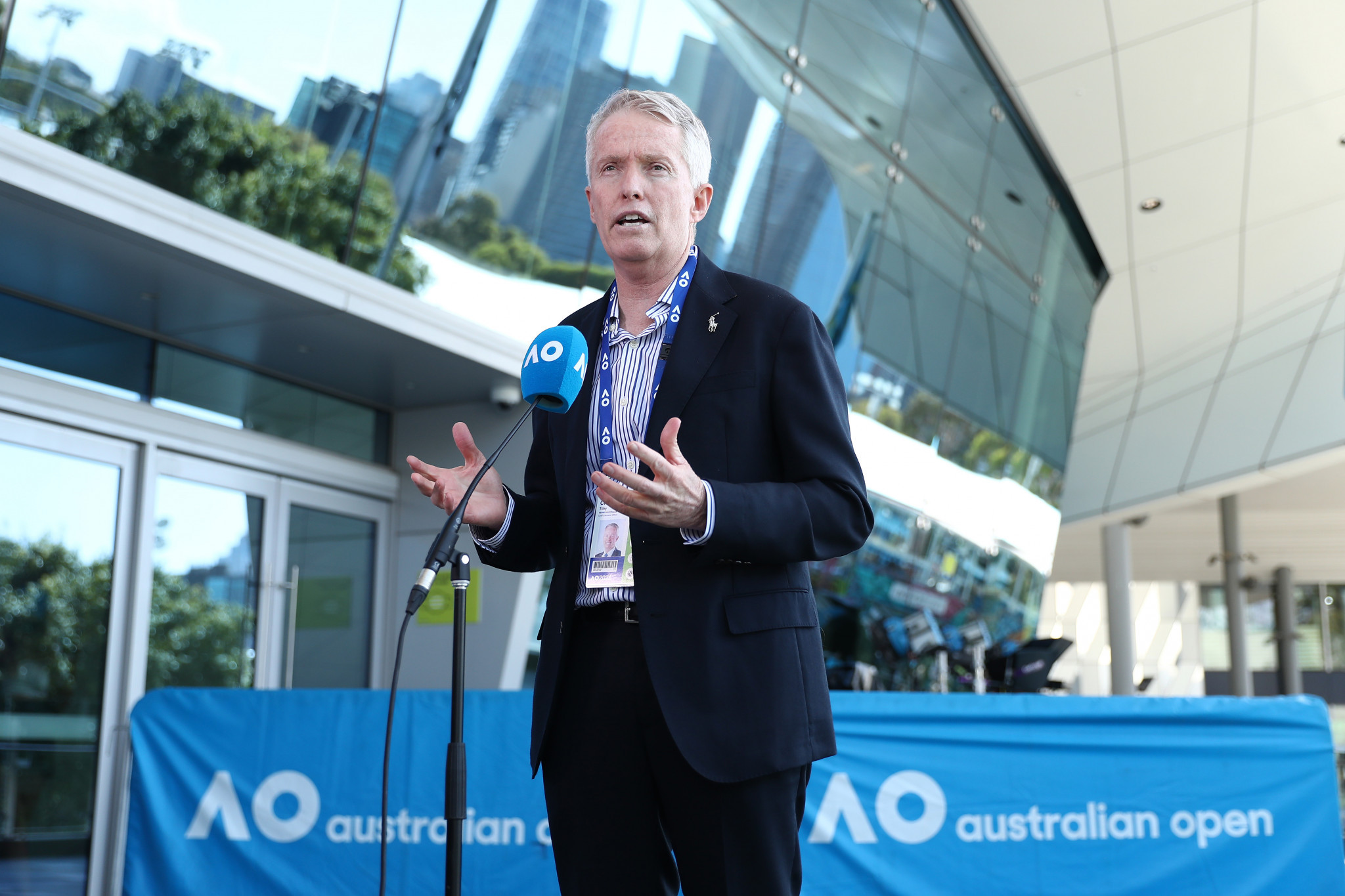 Tennis Australia chief executive Craig Tiley warned the COVID-19 protocol for Tokyo 2020 does not seem rigorous enough ©Getty Images