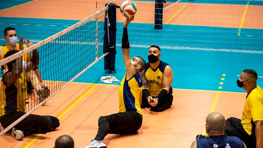 Brazil's sitting volleyball teams have returned to the Paralympic Training Centre in São Paulo ©CPB