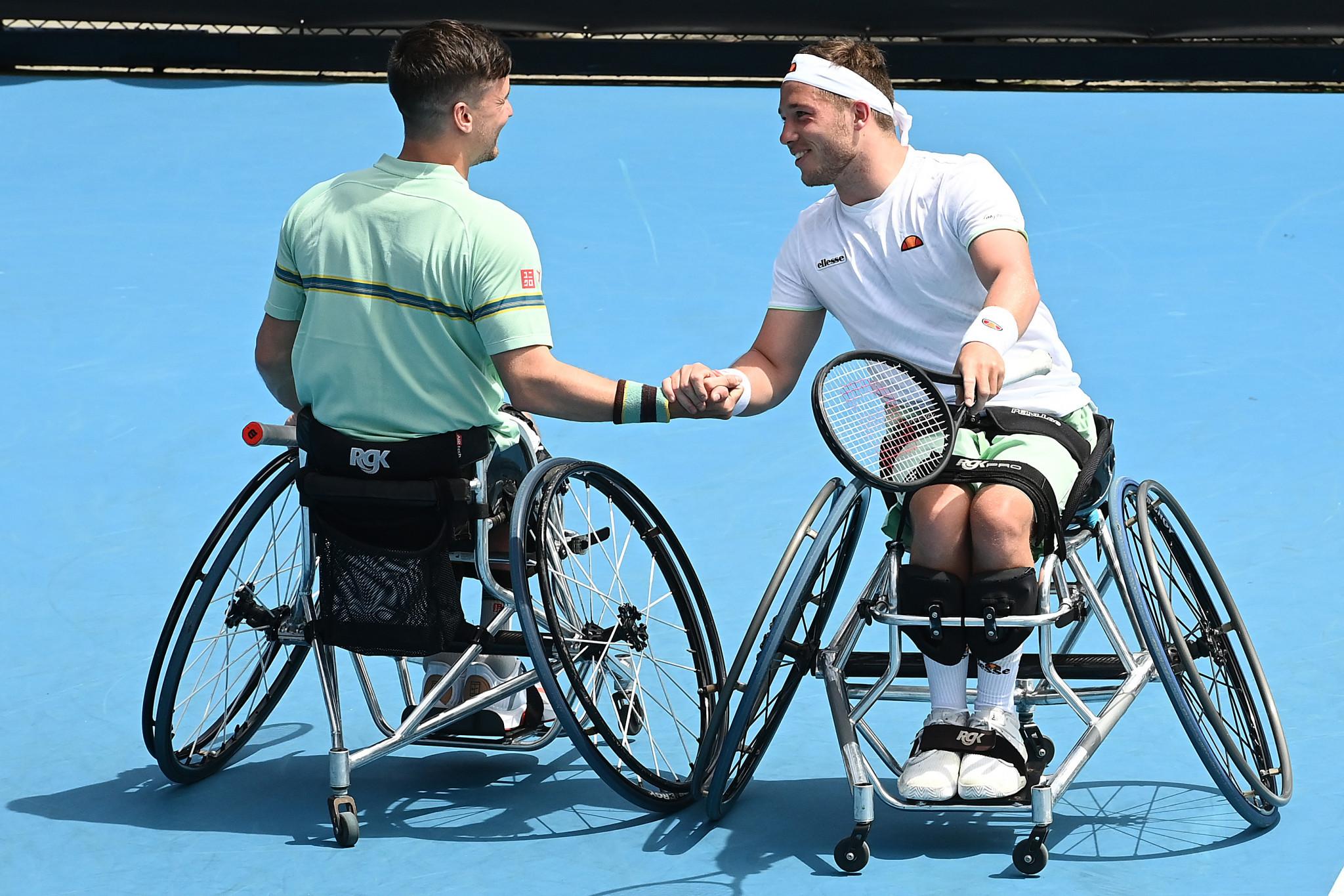 Britain's Gordon Reid and Alfie Hewett defended their men's wheelchair doubles crown ©Getty Images