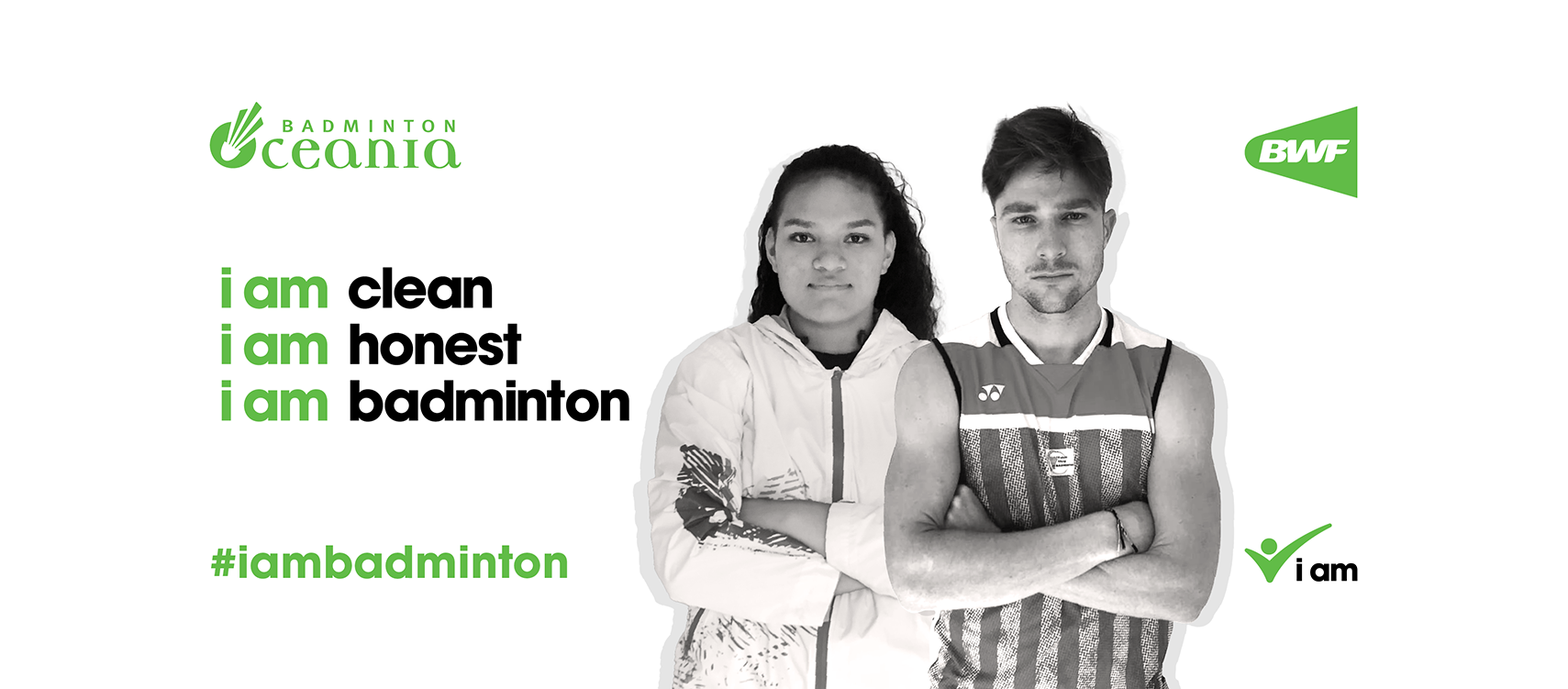 """Pacific Games champions Rossi and Matauli join """"i am badminton"""" campaign"""