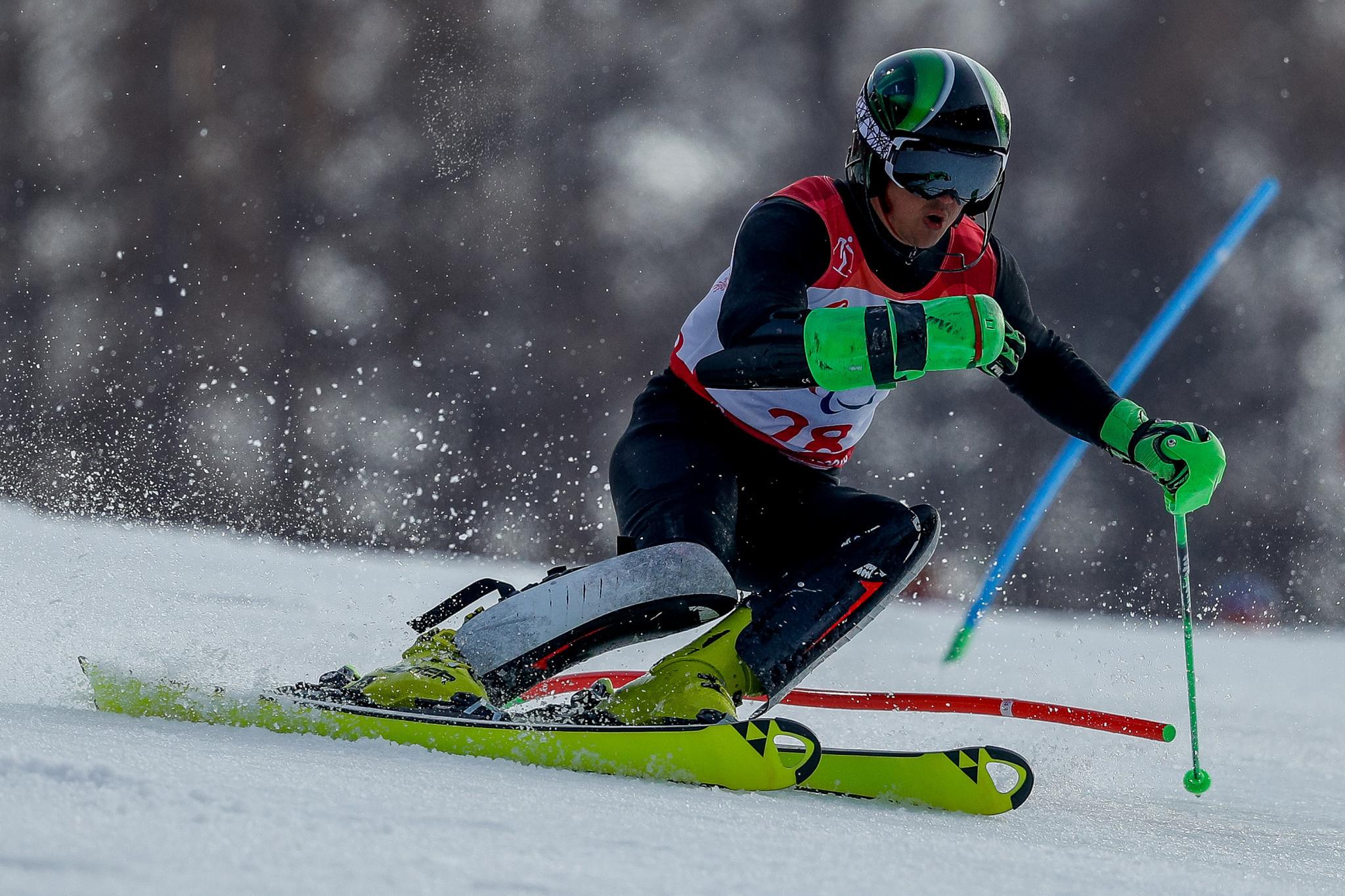 Bugaev maintains winning momentum at World Para Alpine Skiing World Cup