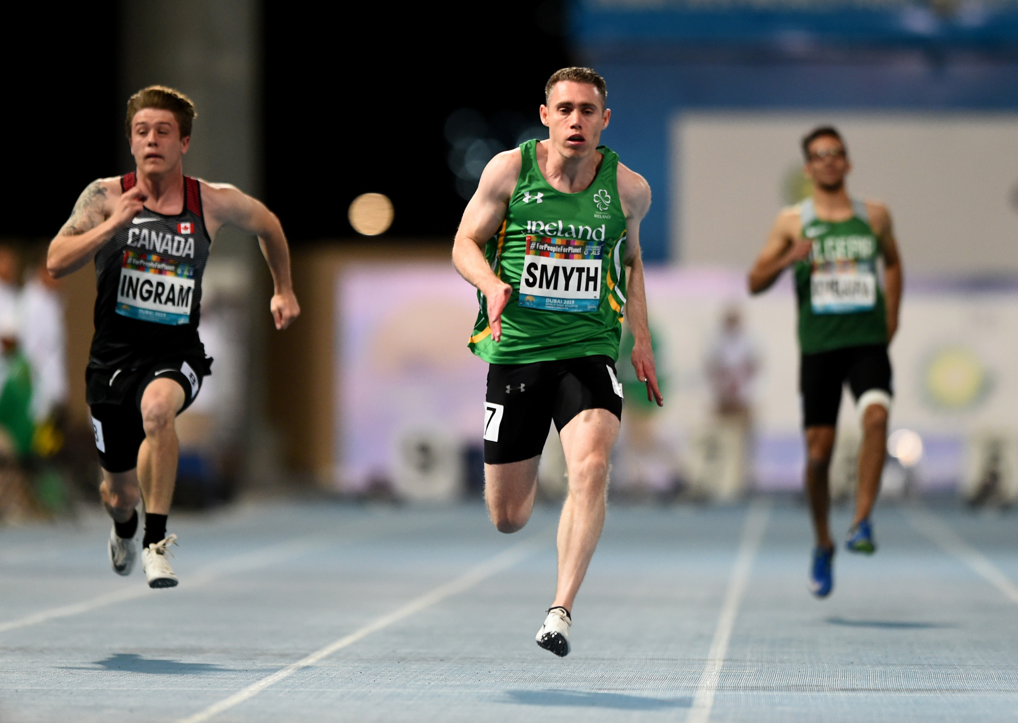 Ireland's Jason Smyth, pictured winning his most recent global title in the T13 100m final at the 2019 World Para Athletics World Championships in Dubai, plans to defend his Paralympic title in Tokyo this summer ©Getty Images