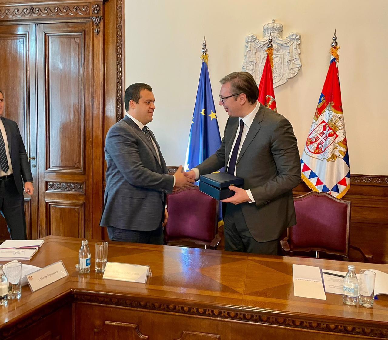 Kremlev meets Serbian President Vučić to discuss AIBA World Boxing Championships