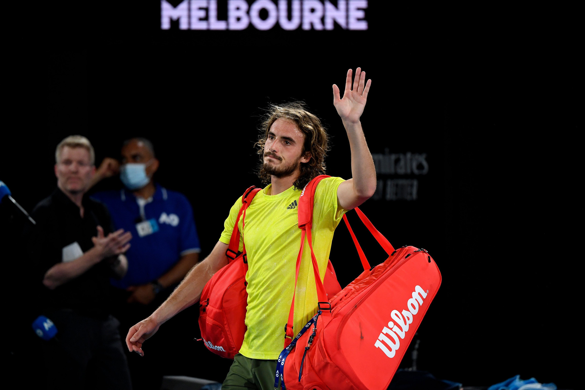 Greece's Stefanos Tsitsipas saw his challenge end in straight sets ©Getty Images