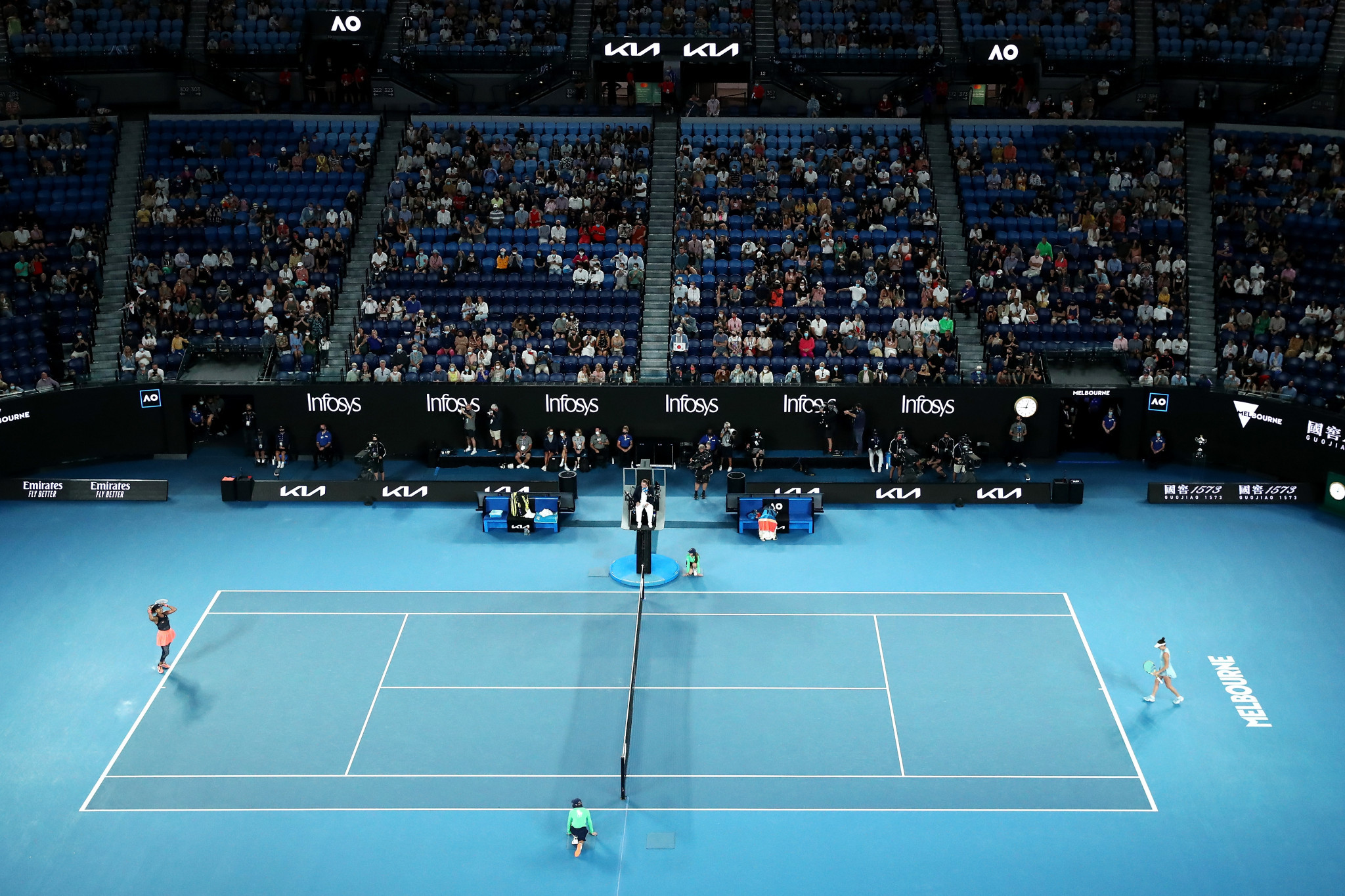 A reduced crowd watched as Naomi Osaka sealed a second Australian Open title ©Getty Images