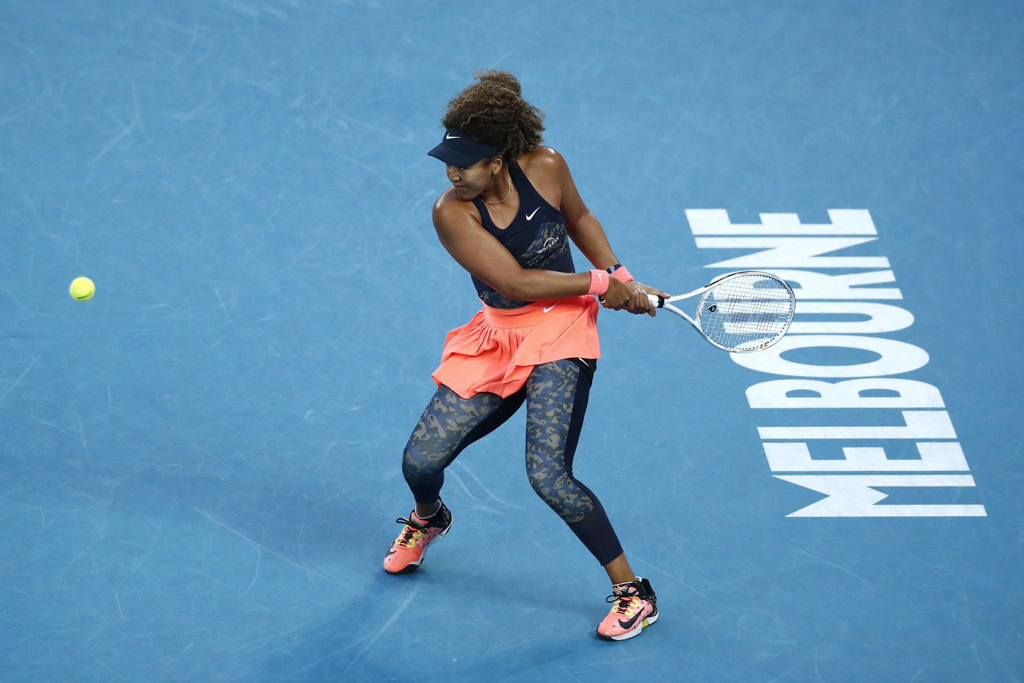 Naomi Osaka broke late in the first set to take the opener ©Getty Images