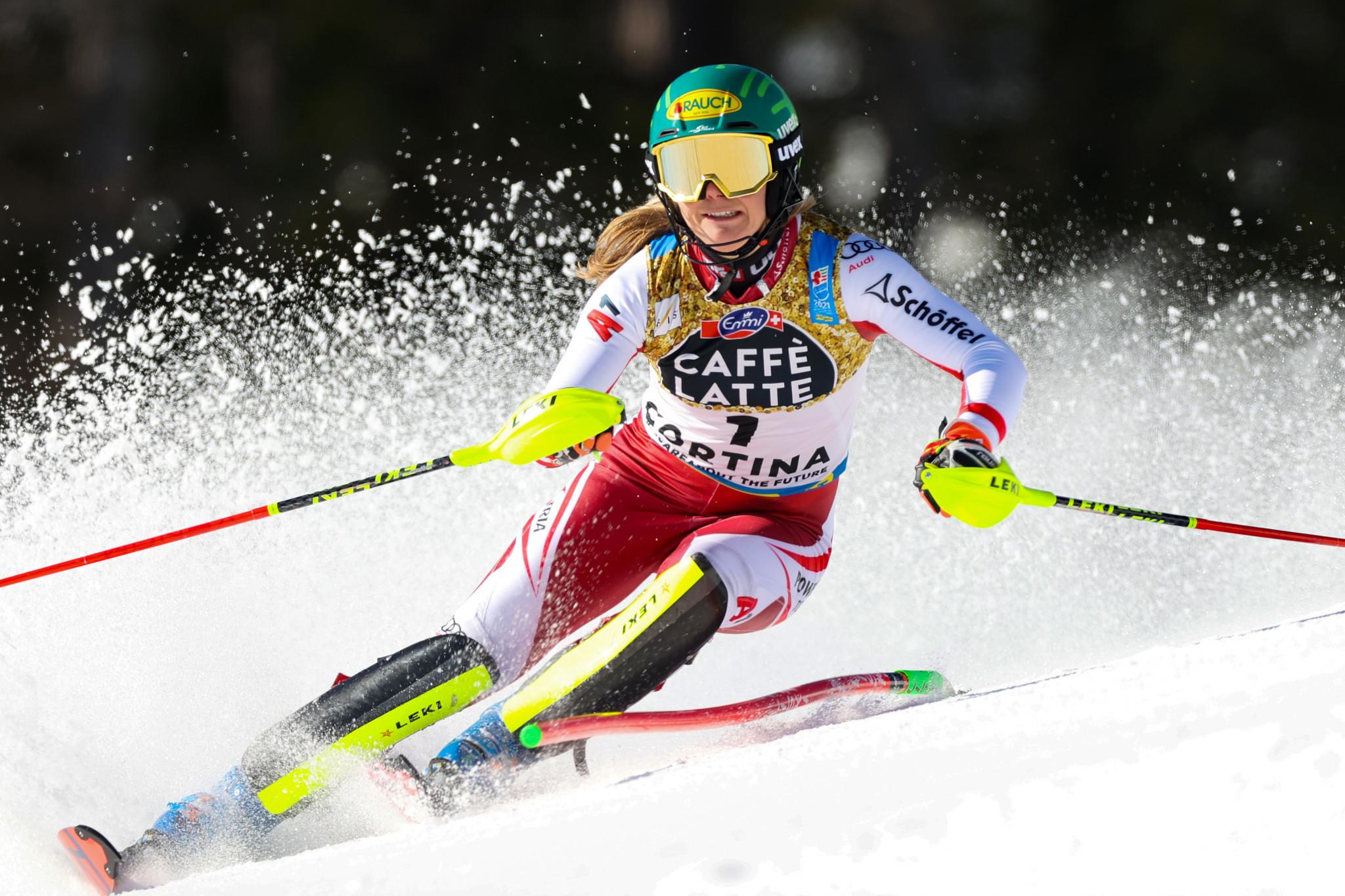 Liensberger ends Shiffrin's slalom reign at Alpine Ski World Championships