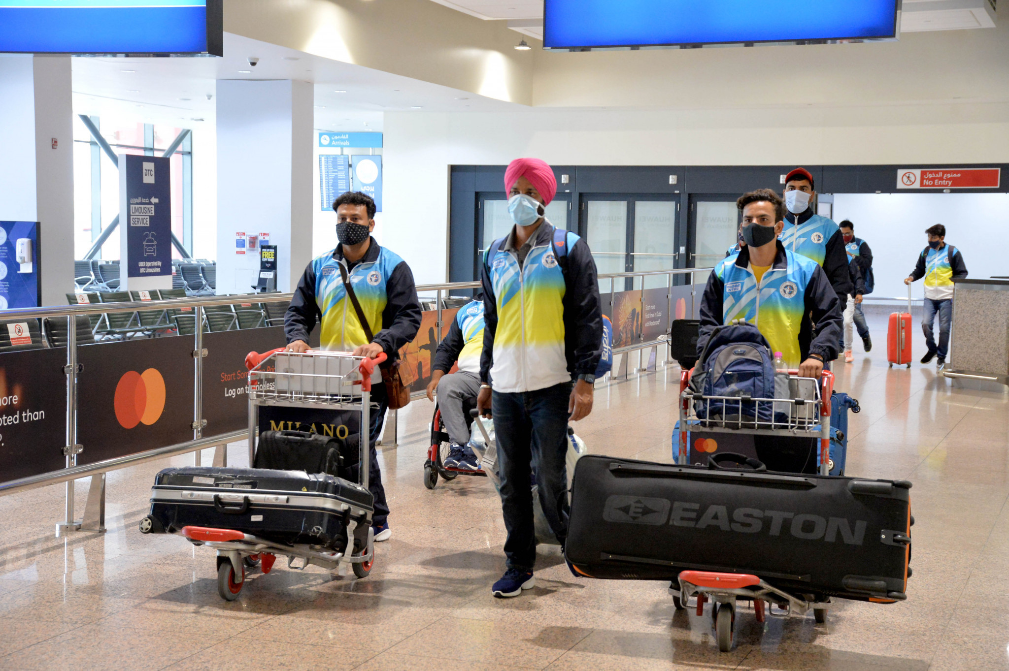 The Indian team, pictured arriving in Dubai, are among 11 countries competing in the Fazza Para Archery World Ranking Tournament ©Gaber Abedeen / Fazza LOC Media
