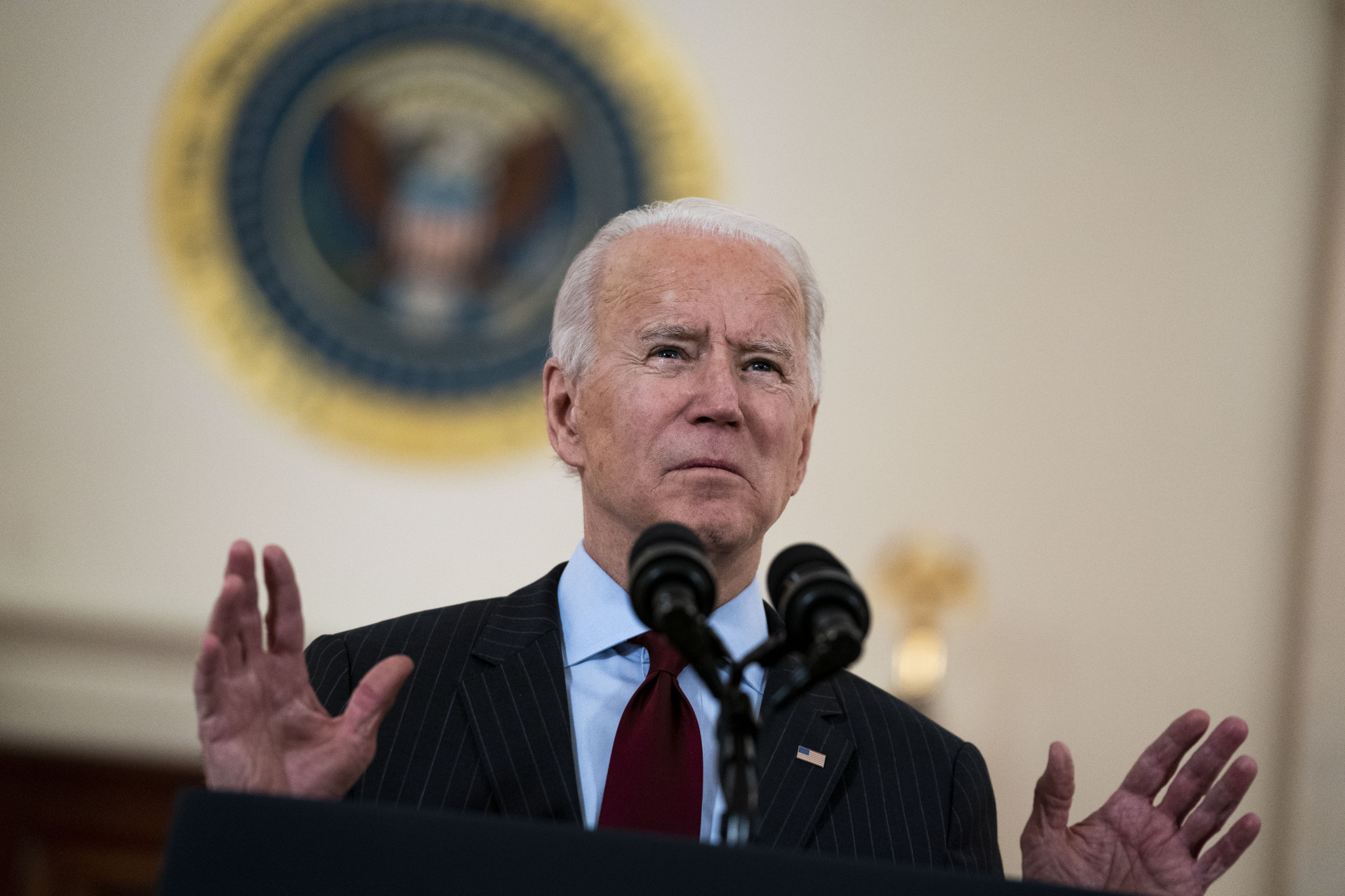 Joe Biden has reportedly discussed the treatment of Uighur Muslims with Chinese President Xi Jinping since officially becoming US President last month ©Getty Images