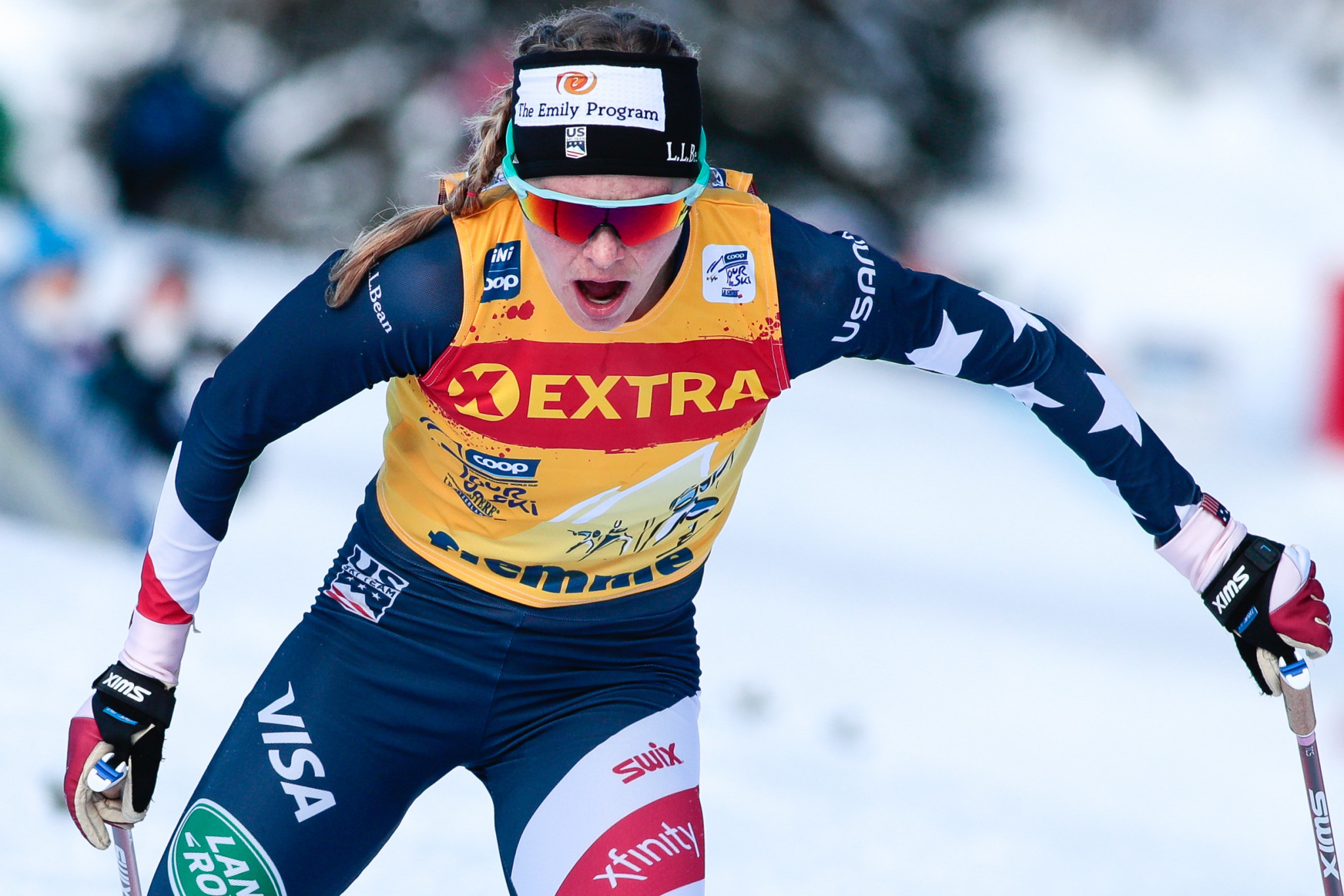 Jessie Diggins is aiming for her first individual title at the Nordic World Ski Championships ©Getty Images