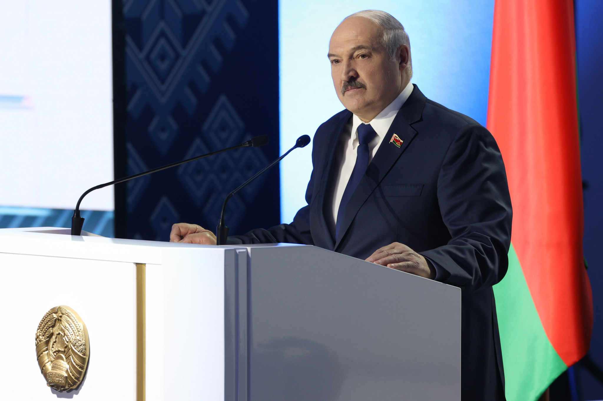Belarus President Alexander Lukashenko was sanctioned by the IOC in December ©Getty Images