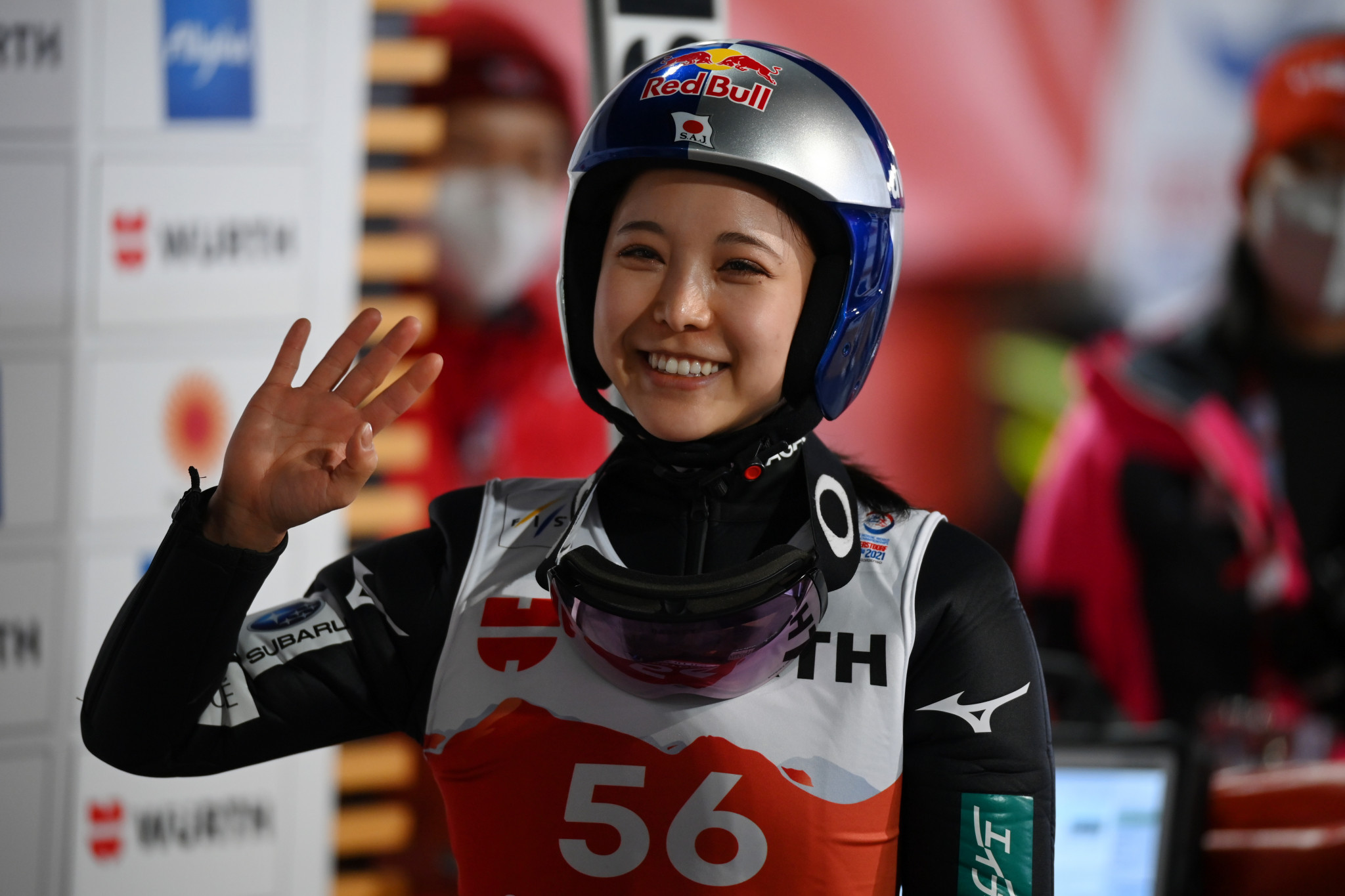 Sara Takanashi will hope to claim the normal hill world title tomorrow ©Getty Images