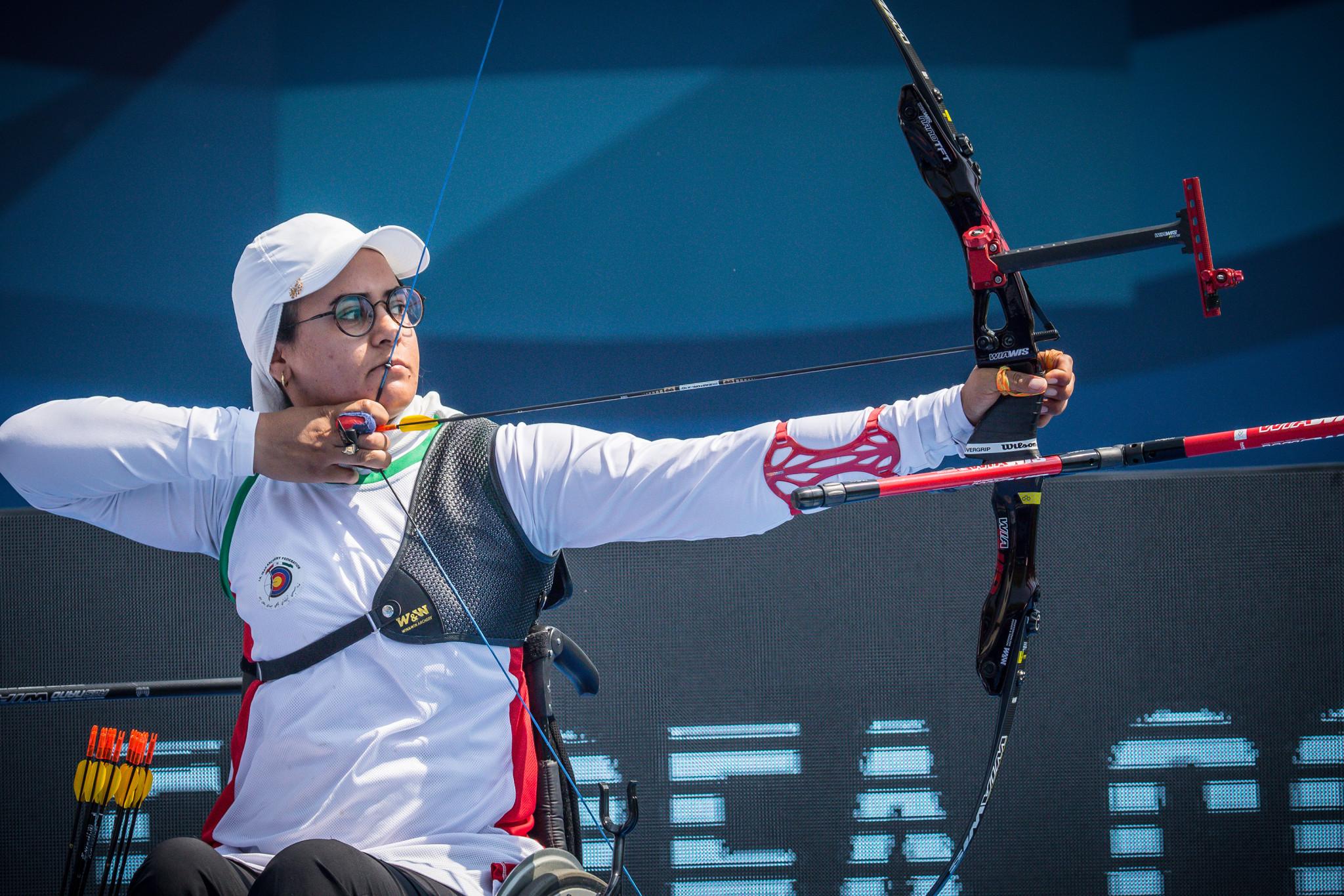 Dominant Nemati into Fazza Para Archery World Ranking Tournament final