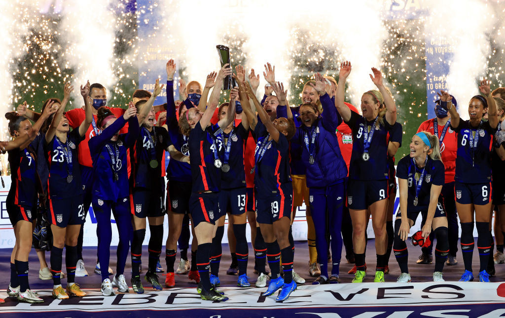 The United States beat Argentina to win the SheBelieves Cup ©Getty Images