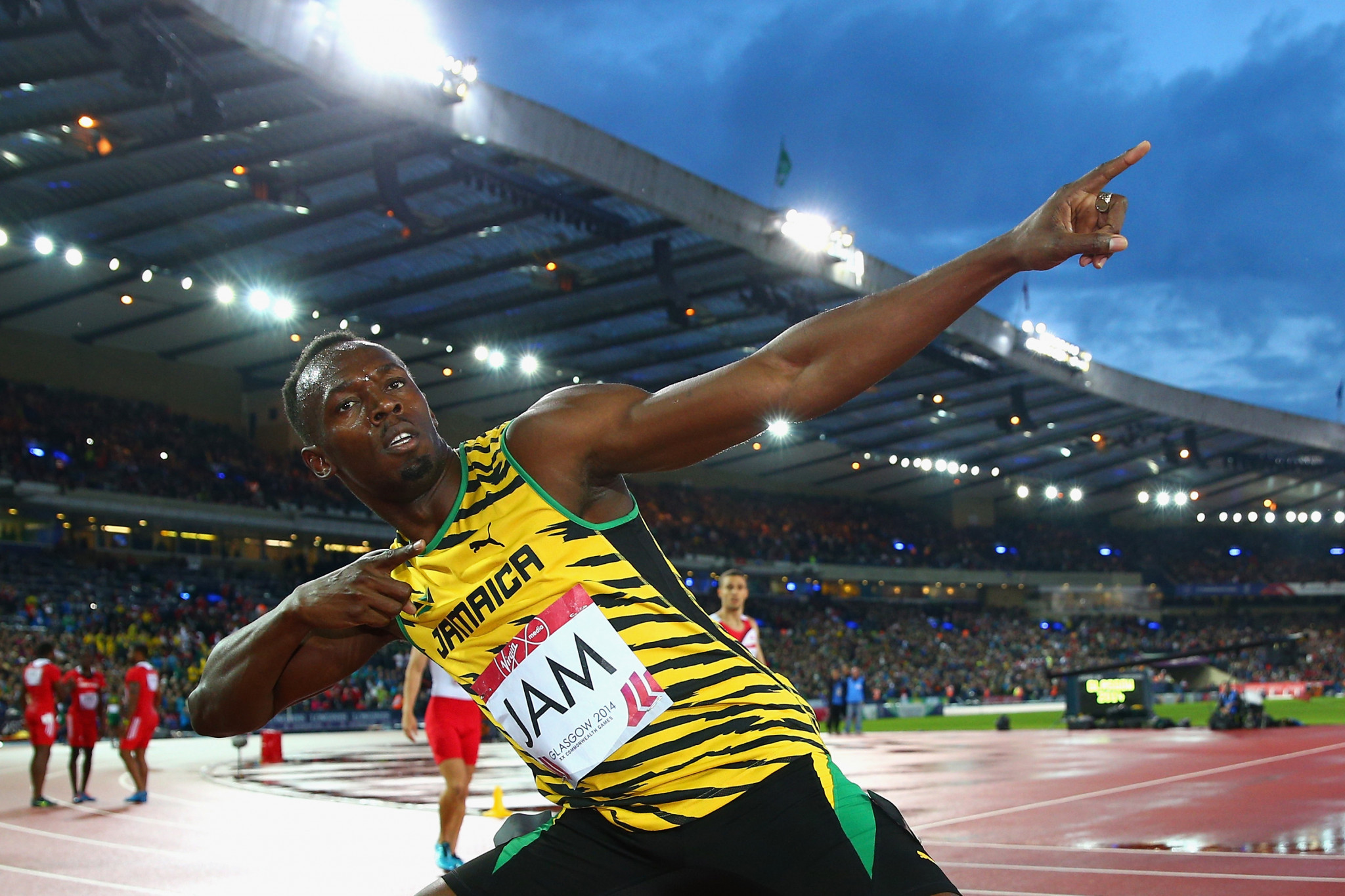 Jamaican sprinting superstar Usain Bolt was a star name at the Glasgow 2014 Commonwealth Games ©Getty Images