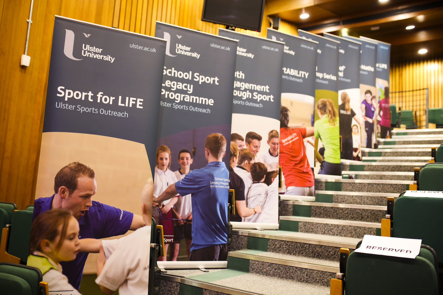 Sports outreach at Ulster University, one of six new additions to FISU's Healthy Campus programme ©FISU