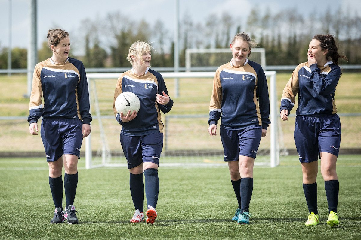 Footballers at Ulster University, one of six new additions to FISU's Healthy Campus programme ©FISU
