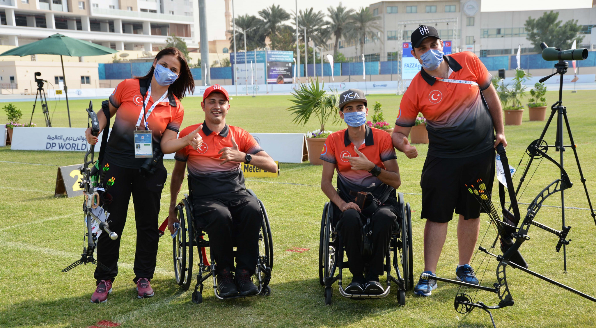 Turkey claim medal clean sweep in individual open category as Fazza Para Archery World Ranking Tournament continues